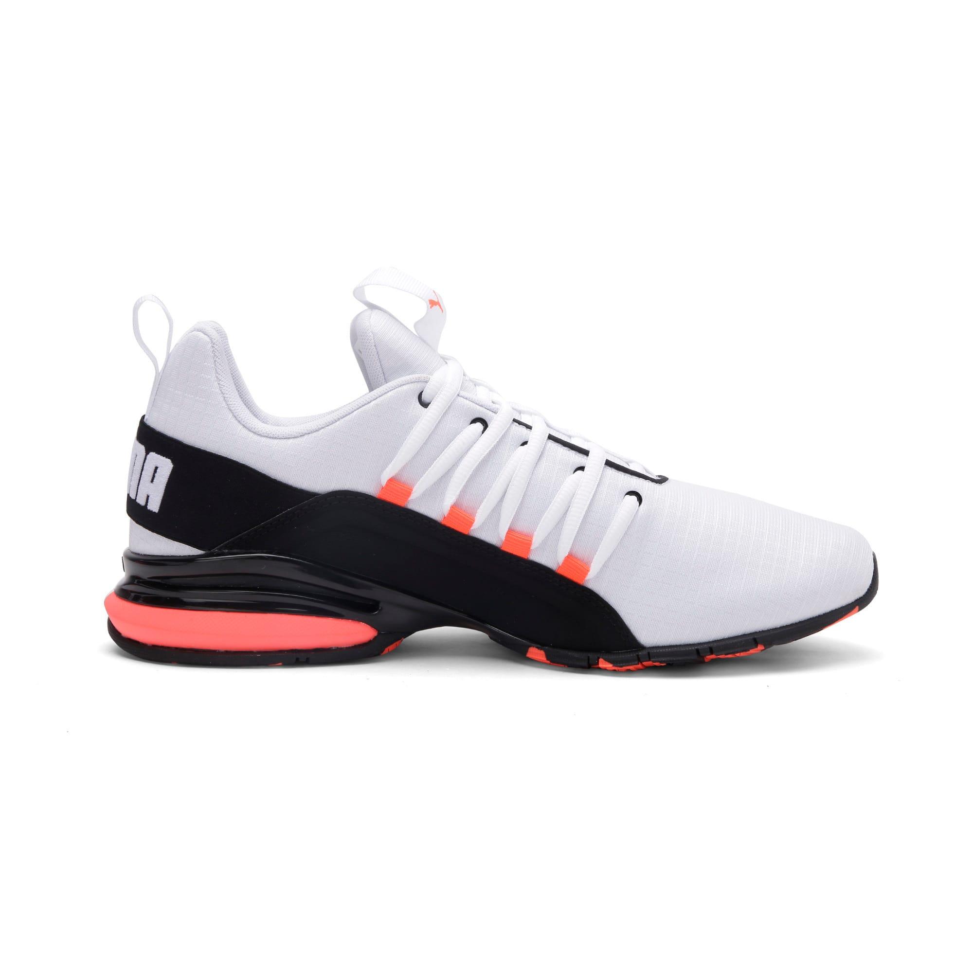 Thumbnail 7 of Axelion Rip Men's Running Shoes, White-Black-Nrgy Red, medium-IND