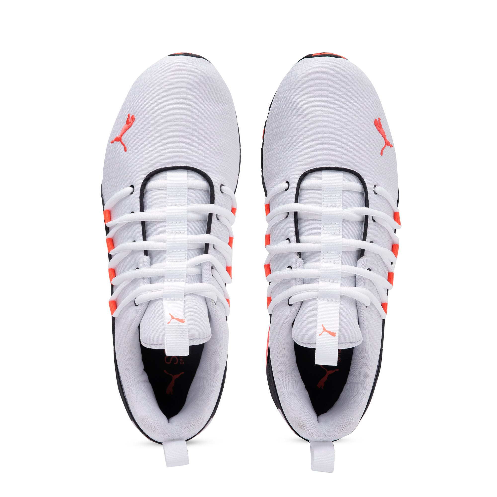 Thumbnail 8 of Axelion Rip Men's Running Shoes, White-Black-Nrgy Red, medium-IND