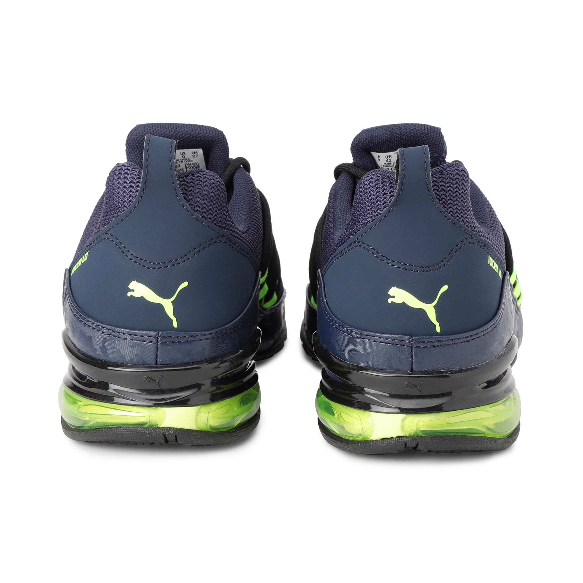 Thumbnail 5 of Cell Regulate Camo Men's Running Shoes, Peacoat-Yellow Alert, medium-IND