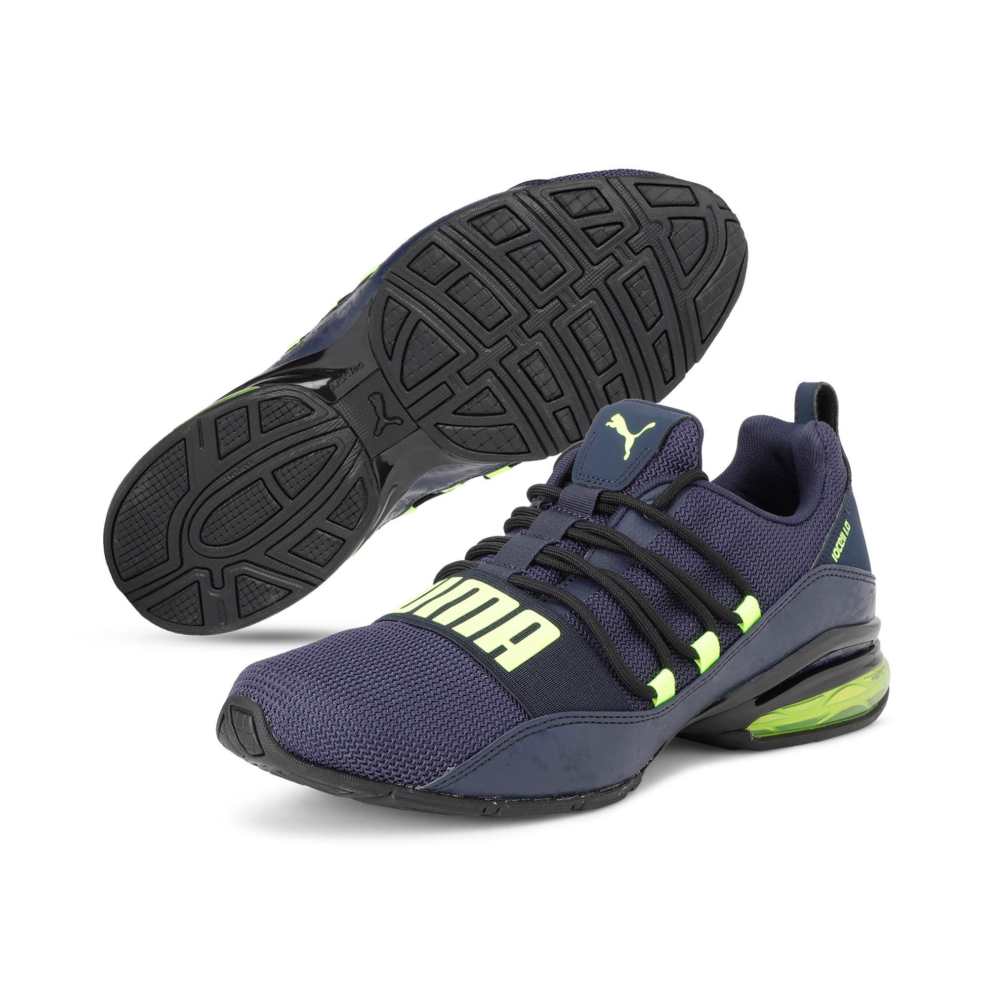 Thumbnail 4 of Cell Regulate Camo Men's Running Shoes, Peacoat-Yellow Alert, medium-IND