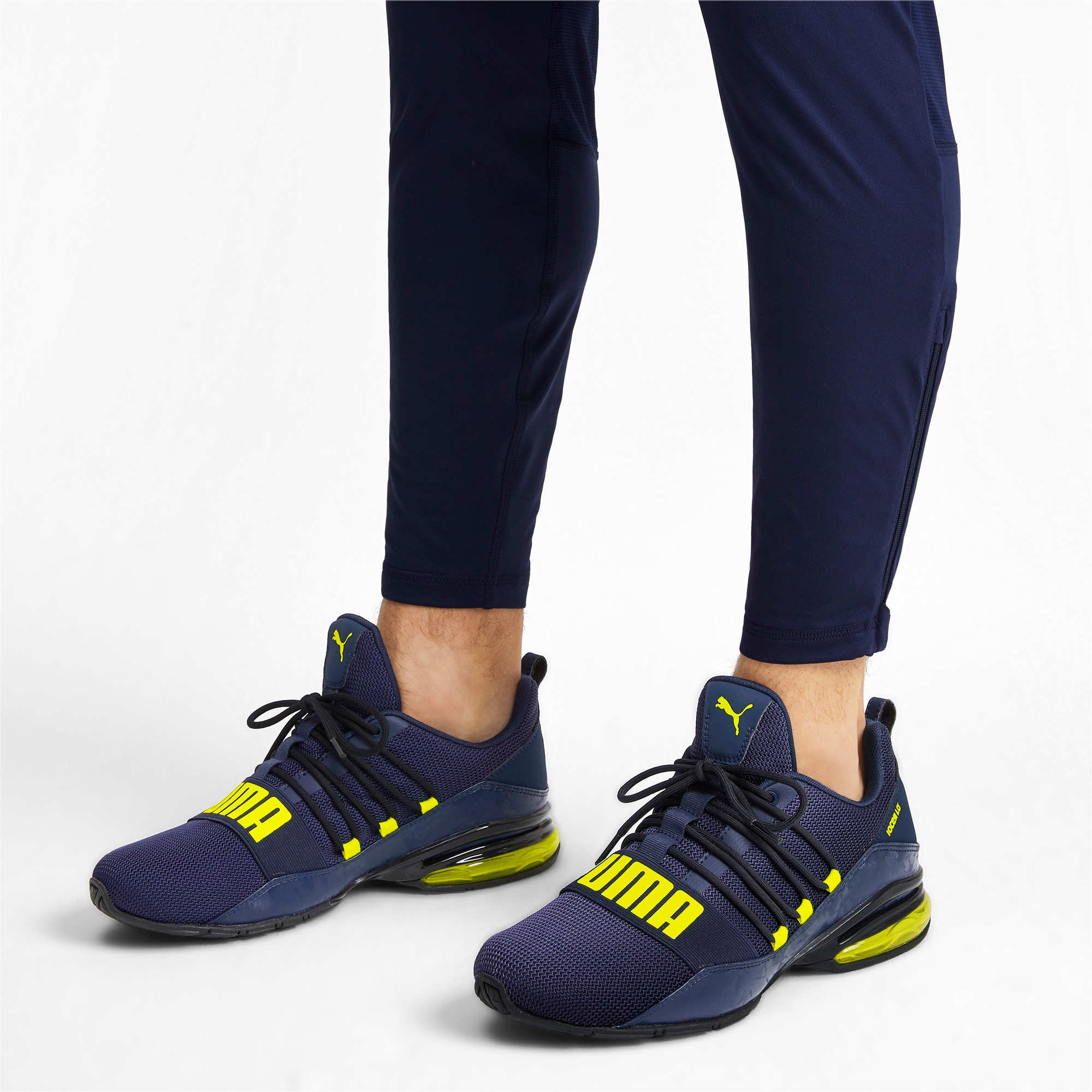 Thumbnail 2 of Cell Regulate Camo Men's Running Shoes, Peacoat-Yellow Alert, medium-IND