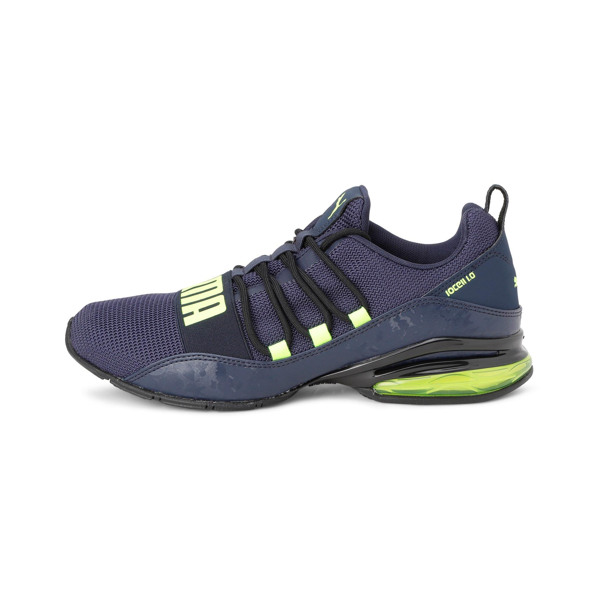 Thumbnail 1 of Cell Regulate Camo Men's Running Shoes, Peacoat-Yellow Alert, medium-IND