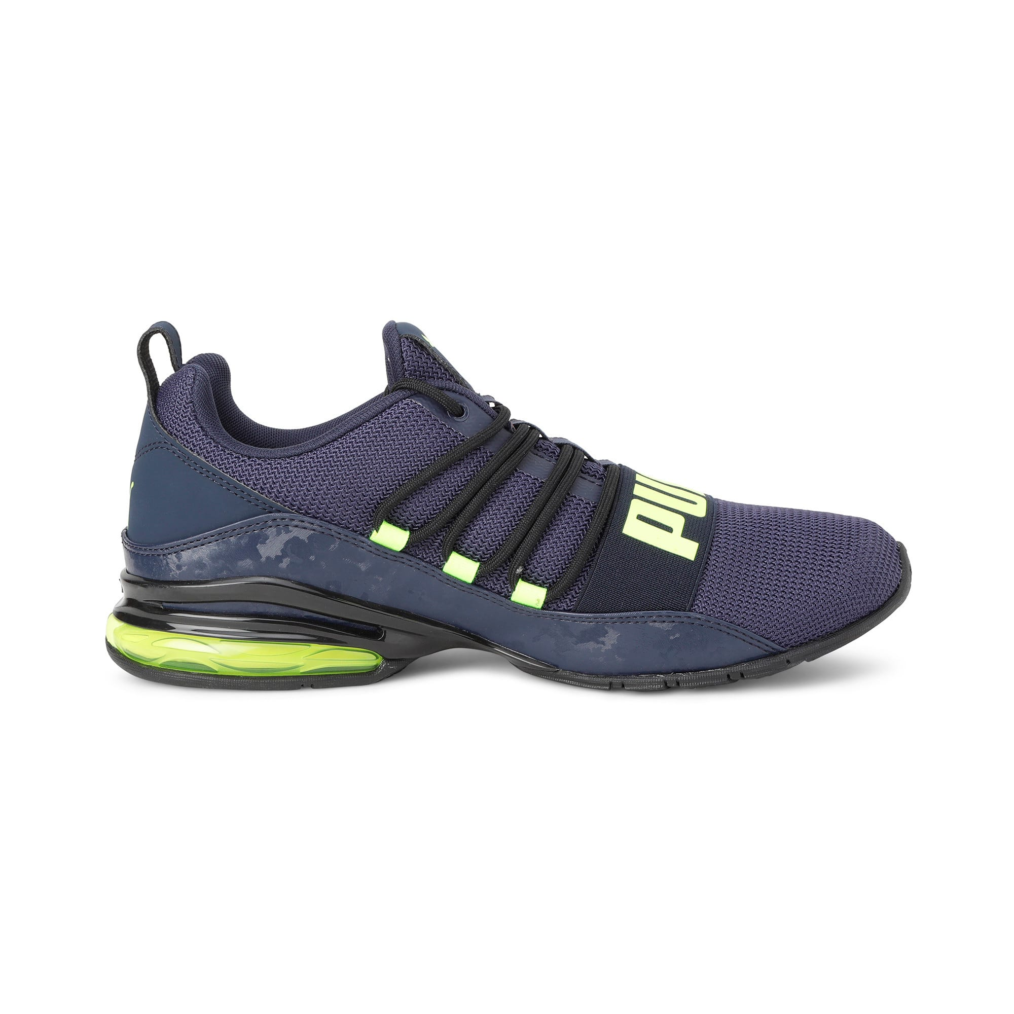 Thumbnail 7 of Cell Regulate Camo Men's Running Shoes, Peacoat-Yellow Alert, medium-IND