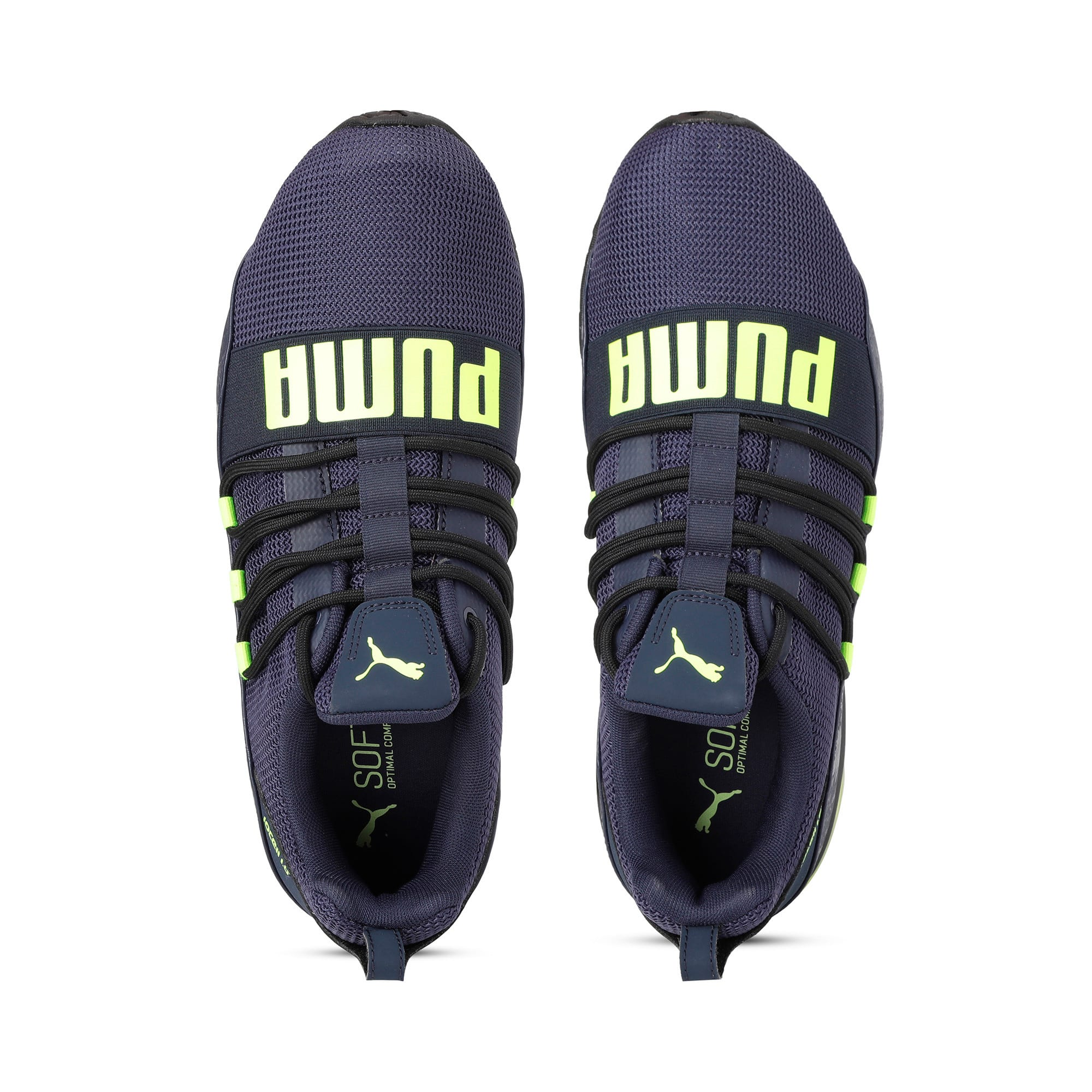 Thumbnail 8 of Cell Regulate Camo Men's Running Shoes, Peacoat-Yellow Alert, medium-IND