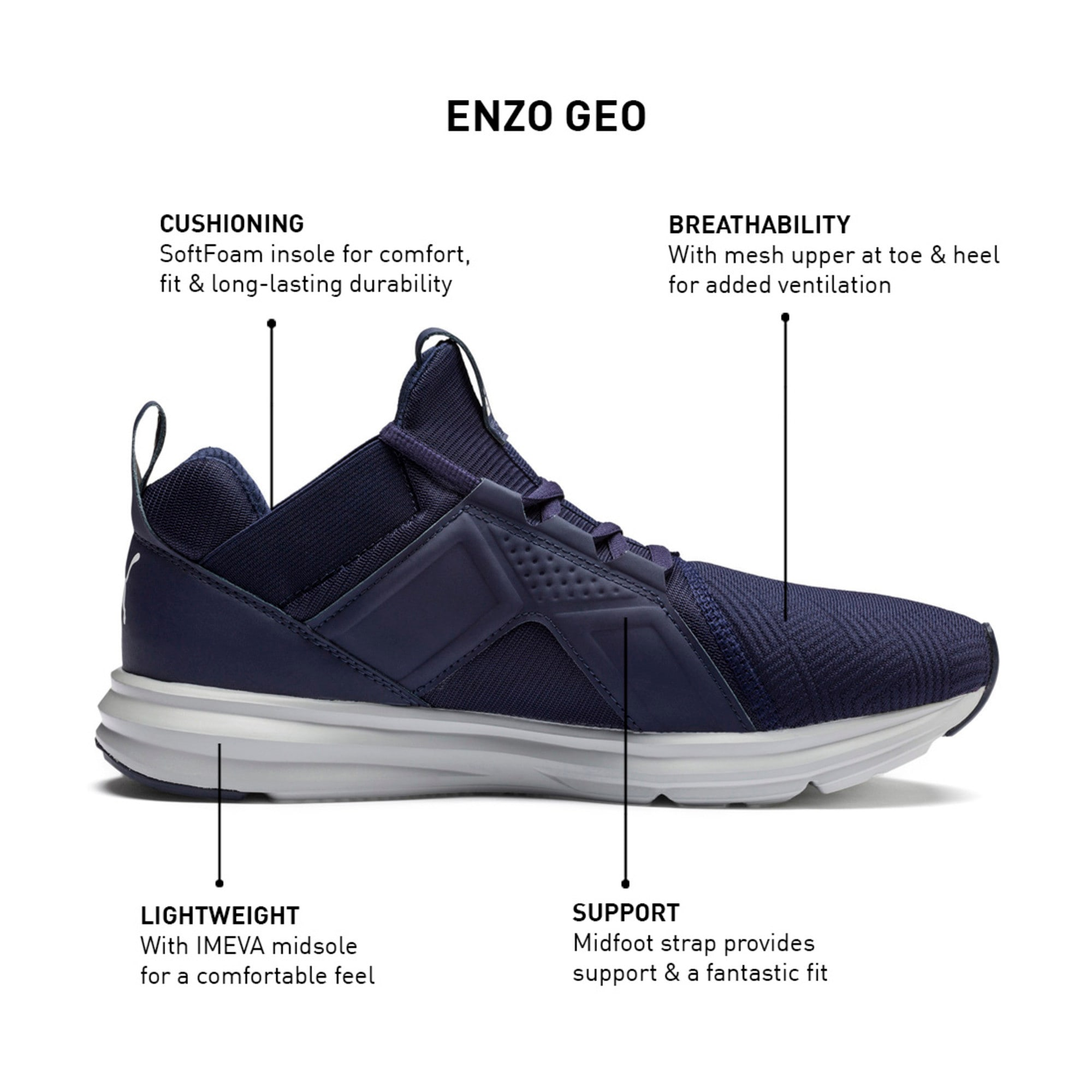 Thumbnail 7 of Enzo Geo Men's Running Shoes, Peacoat, medium-IND