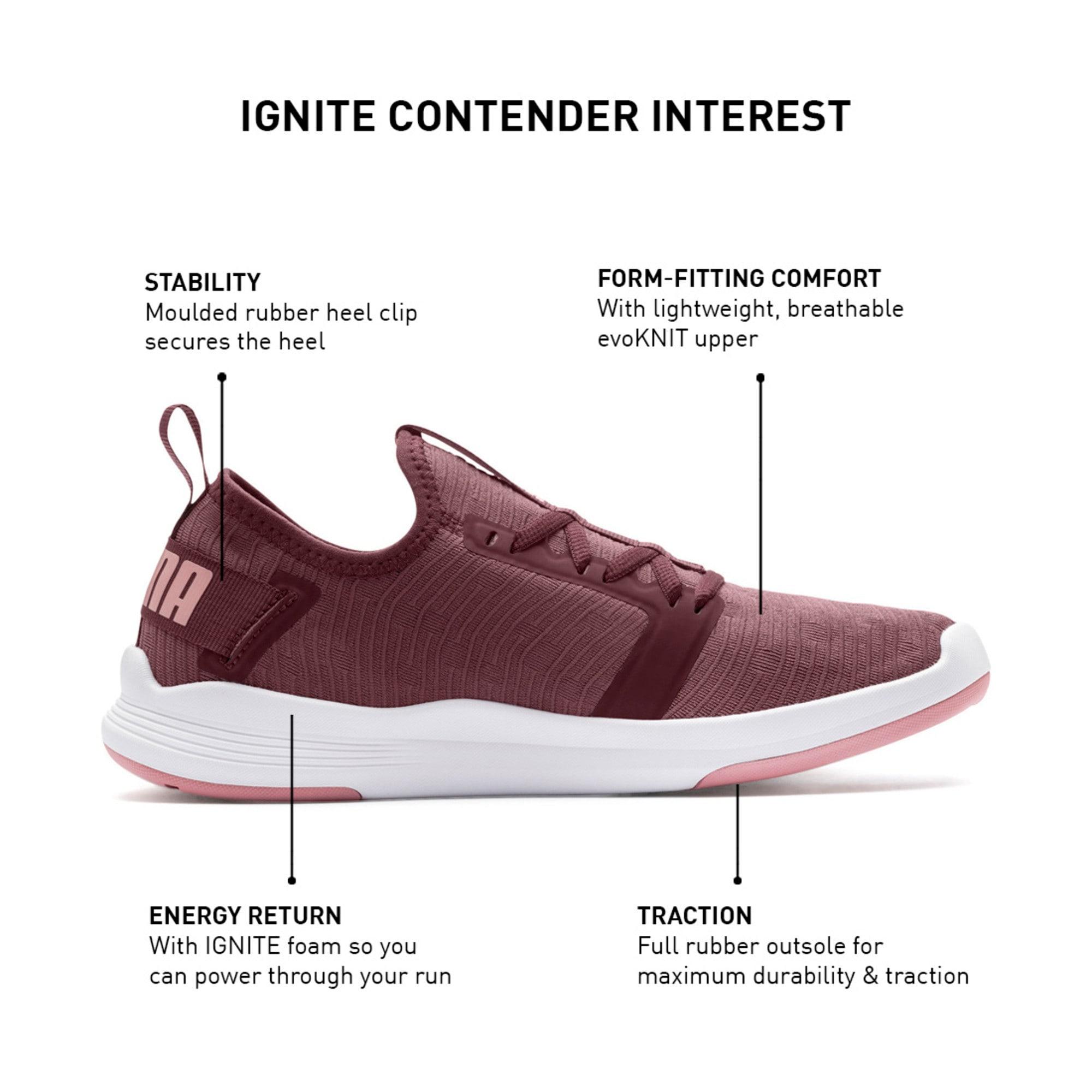 Thumbnail 9 of IGNITE Contender Interest Women's Trainers, Vineyard Wine-Bridal Rose, medium-IND