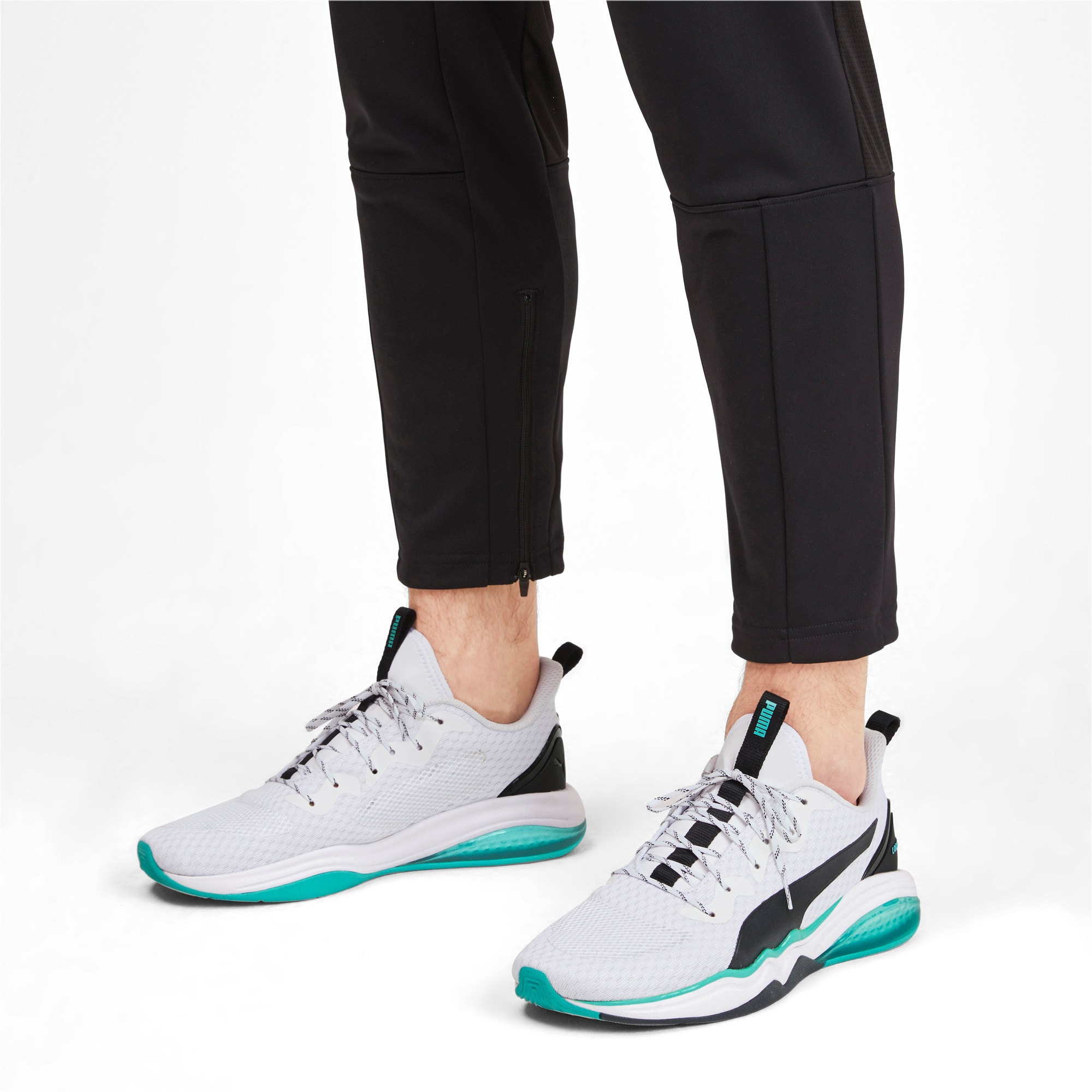 Thumbnail 3 of LQDCELL Tension Men's Training Shoes, Puma White-Blue Turquoise, medium-IND