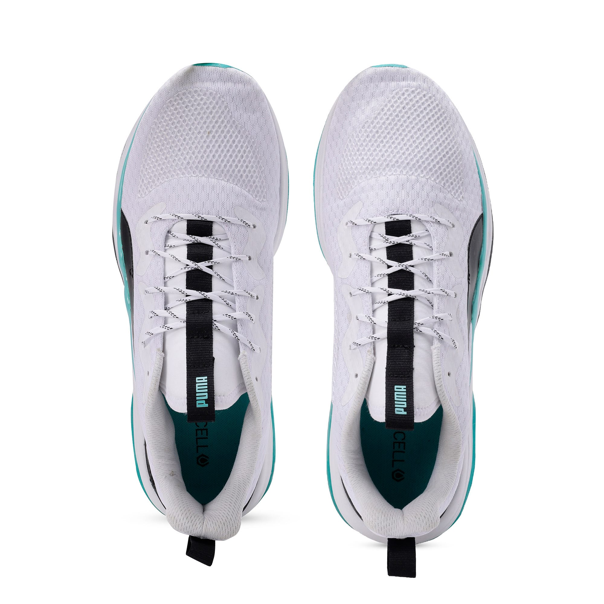 Thumbnail 9 of LQDCELL Tension Men's Training Shoes, Puma White-Blue Turquoise, medium-IND