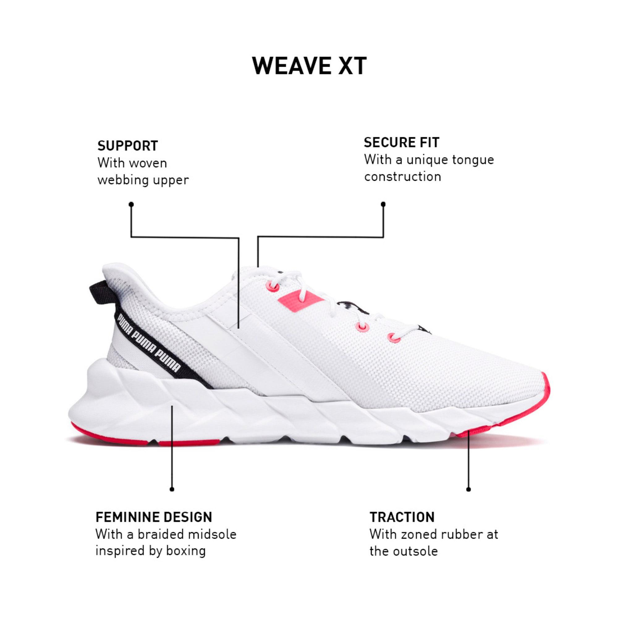 Thumbnail 10 of Weave XT Women's Training Shoes, Puma White-Pink Alert, medium-IND