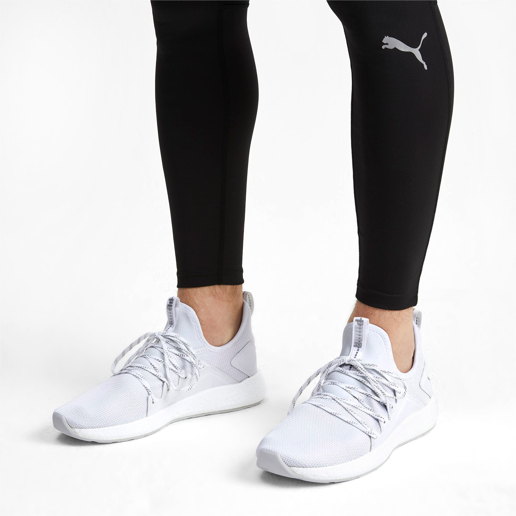 Thumbnail 2 of NRGY Neko Lights Men's Running Shoes, Puma White, medium