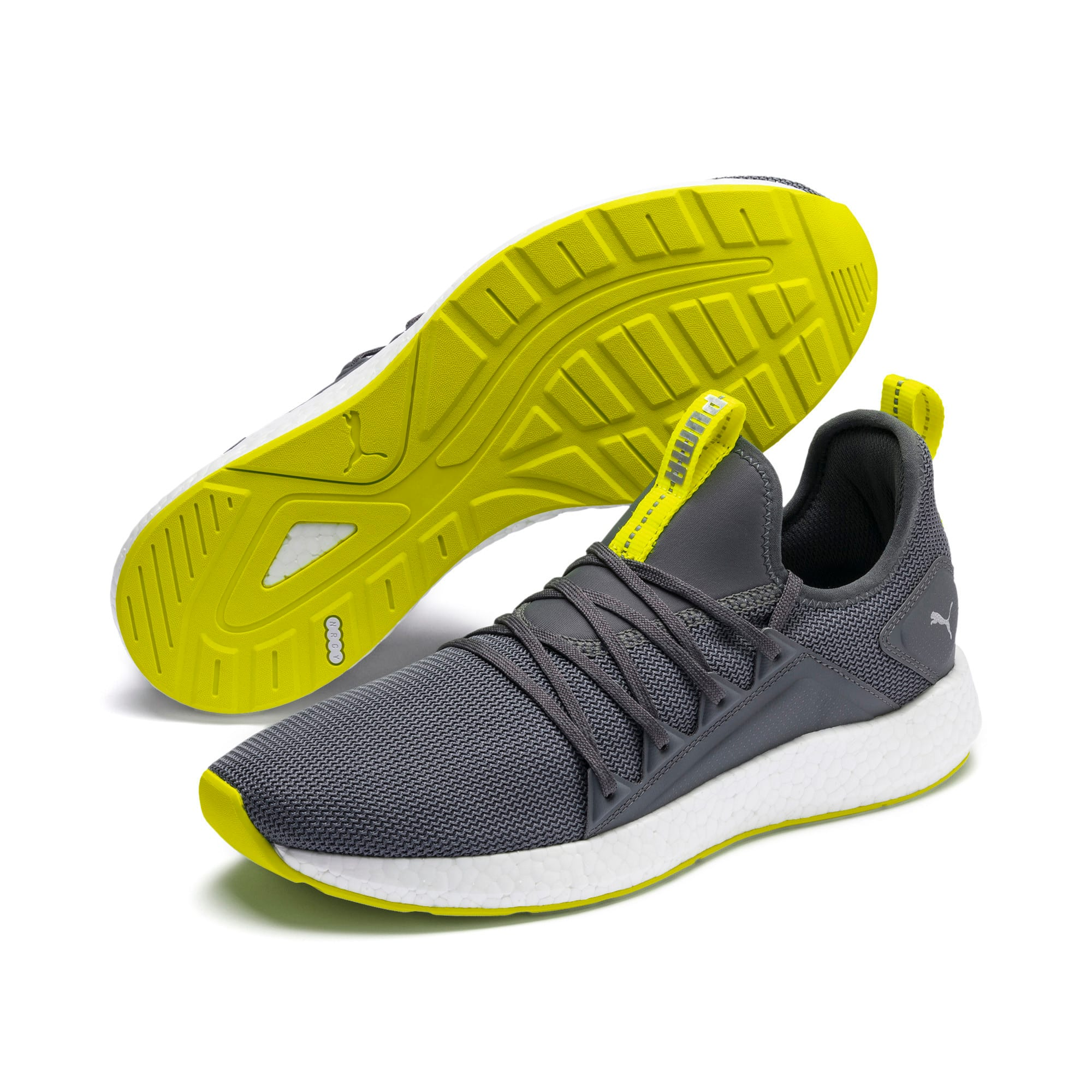 Thumbnail 3 of NRGY Neko Lights hardloopschoenen voor heren, CASTLEROCK-Yellow Alert, medium