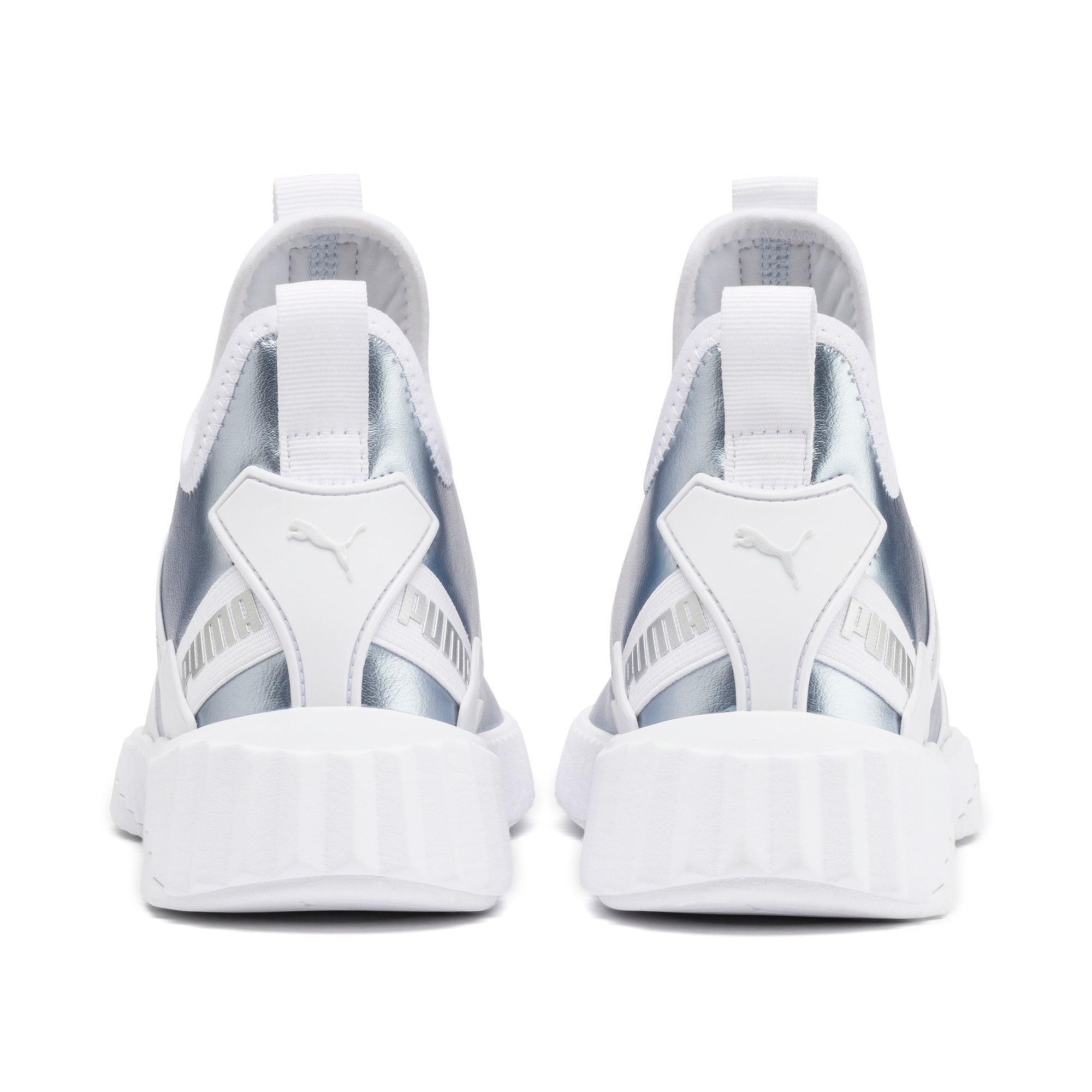Thumbnail 4 of Defy Mid Metallic Women's Training Shoes, Heather-Puma White, medium