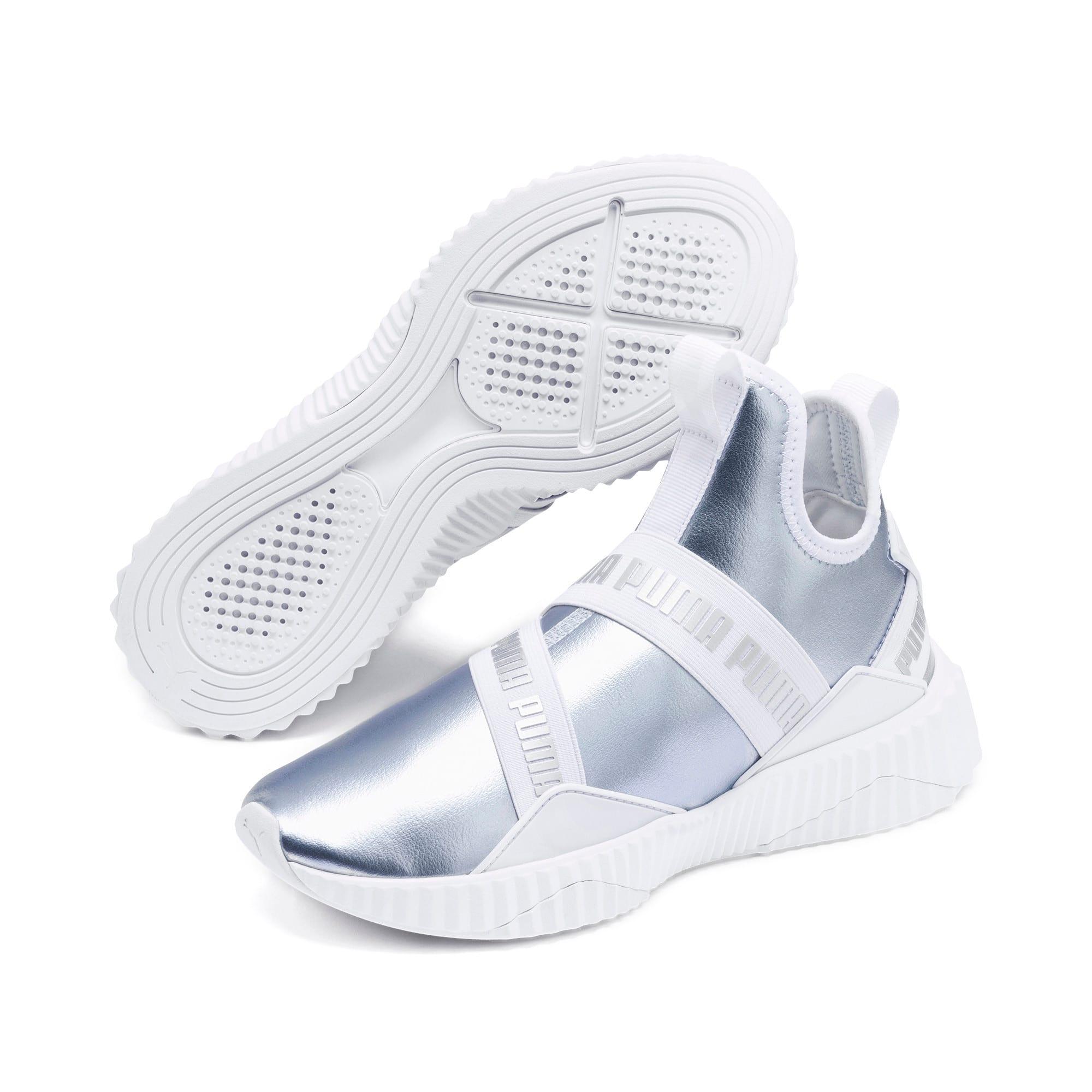 Thumbnail 2 of Defy Mid Metallic Women's Training Shoes, Heather-Puma White, medium