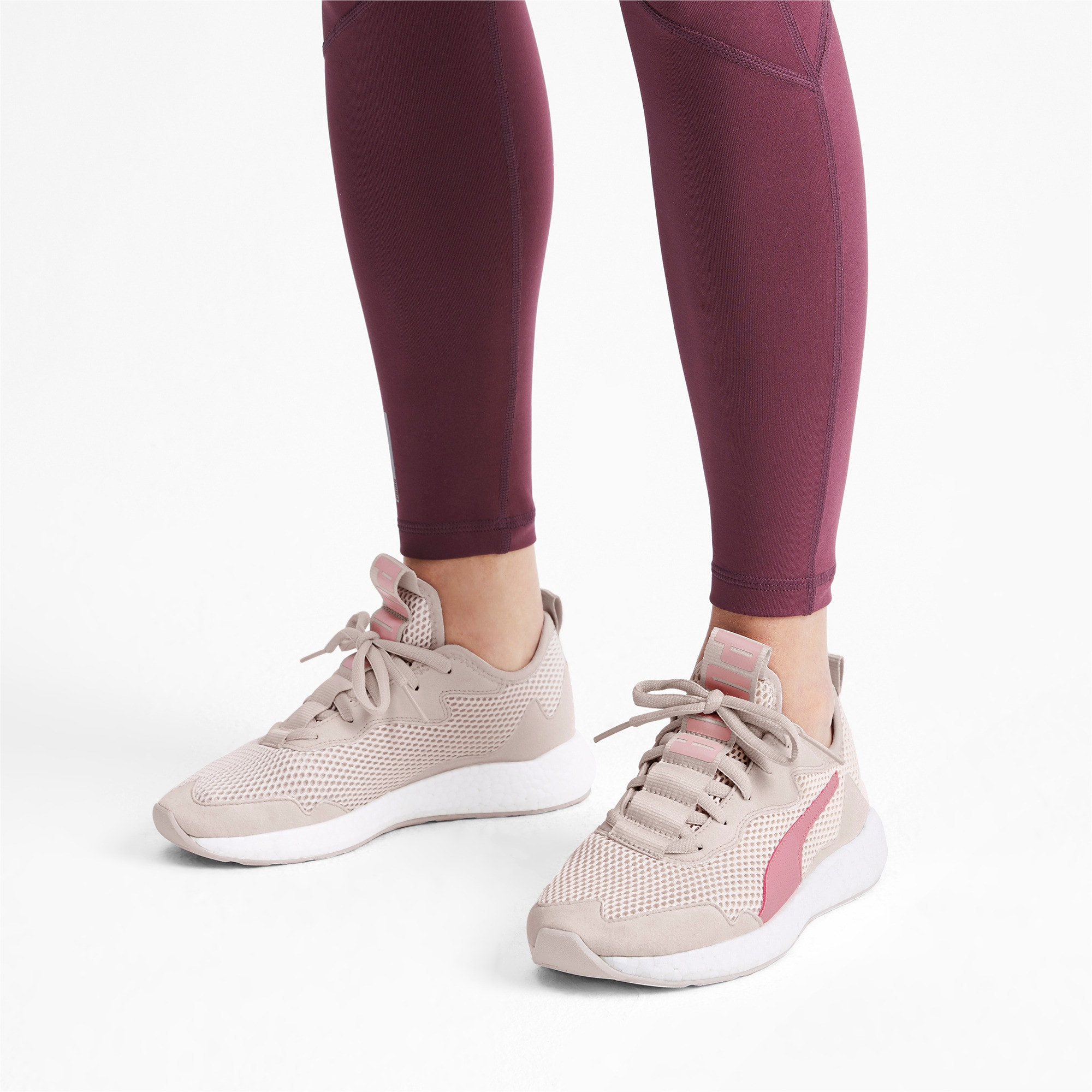 Thumbnail 2 of NRGY Neko Skim Women's Running Shoes, Pastel Parchment-Bridal Rose, medium-IND