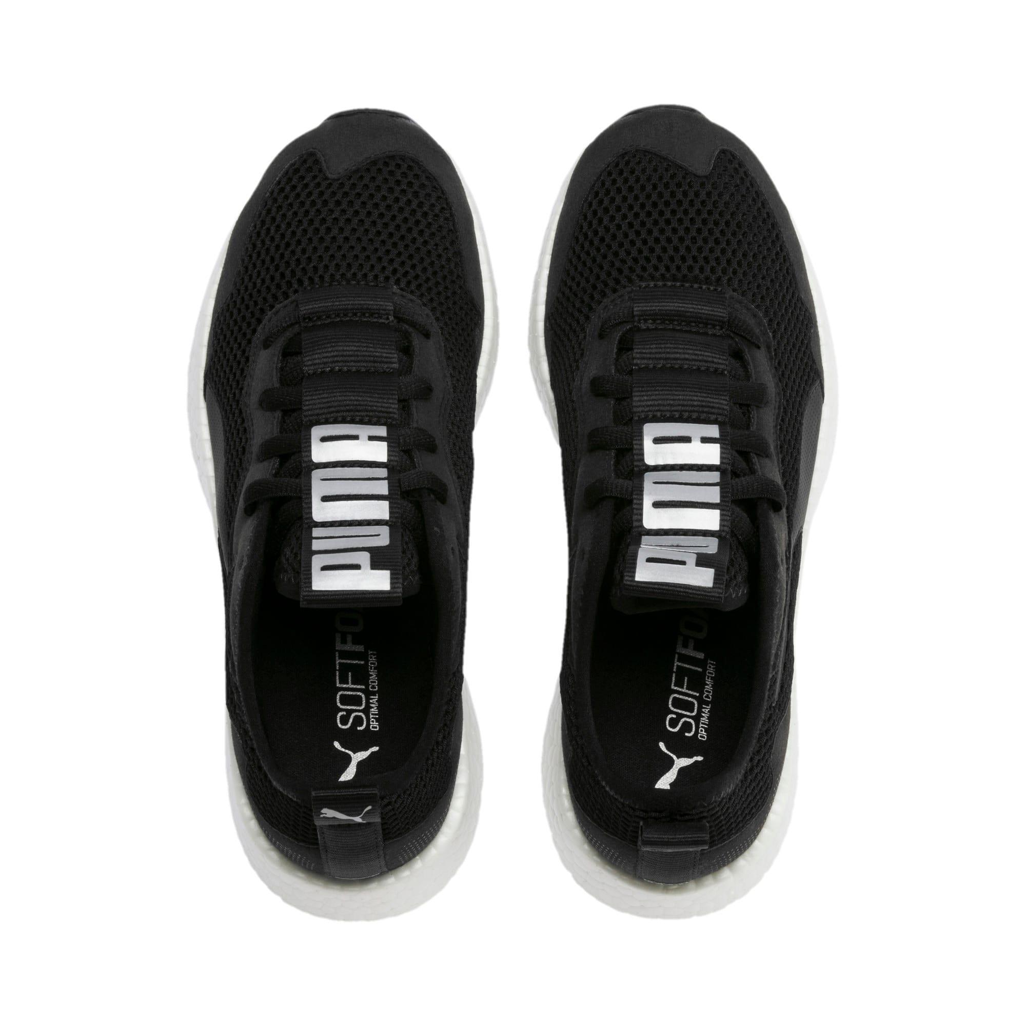 Thumbnail 4 of NRGY Neko Skim Women's Running Shoes, Puma Black-Puma Silver, medium-IND