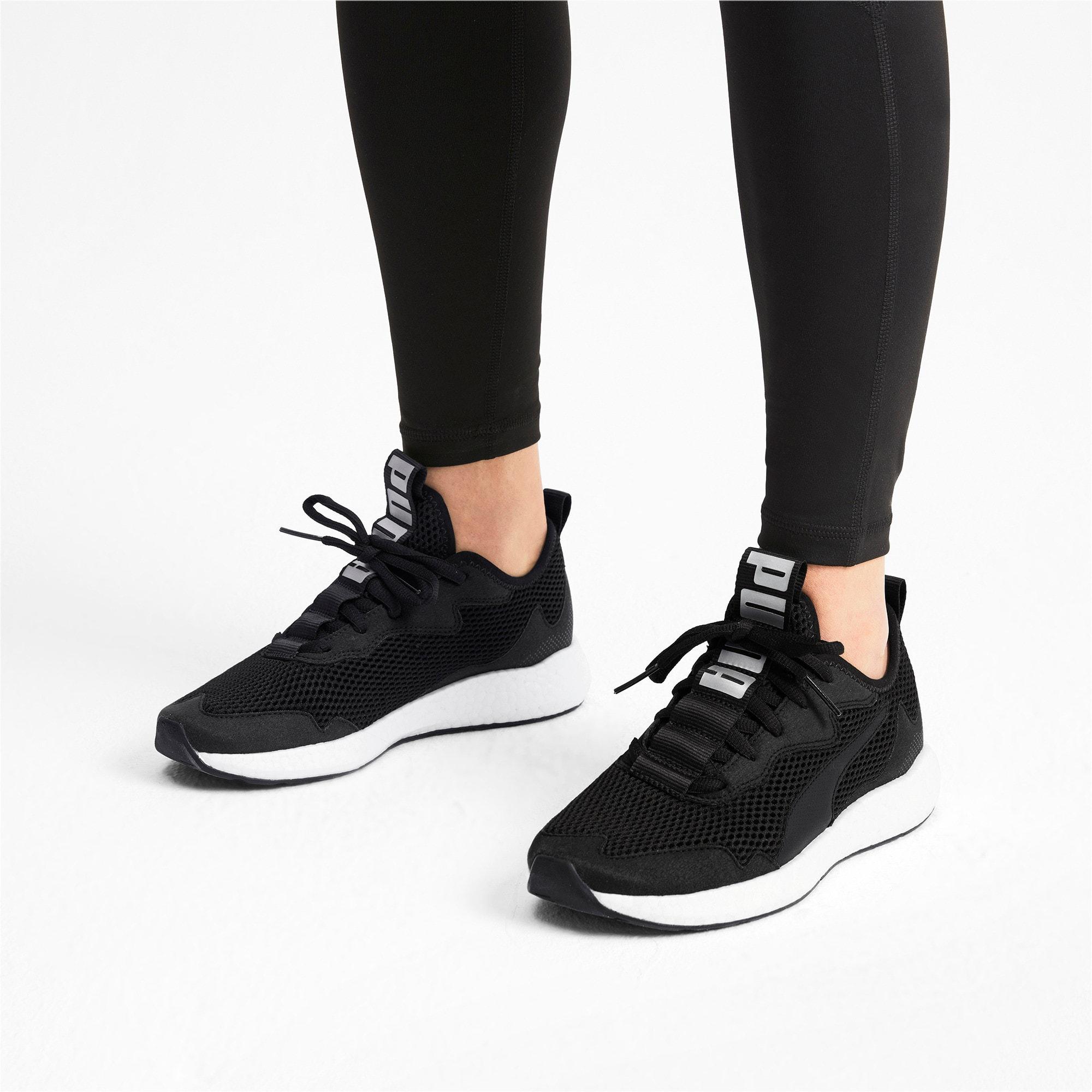 Thumbnail 3 of NRGY Neko Skim Women's Running Shoes, Puma Black-Puma Silver, medium-IND