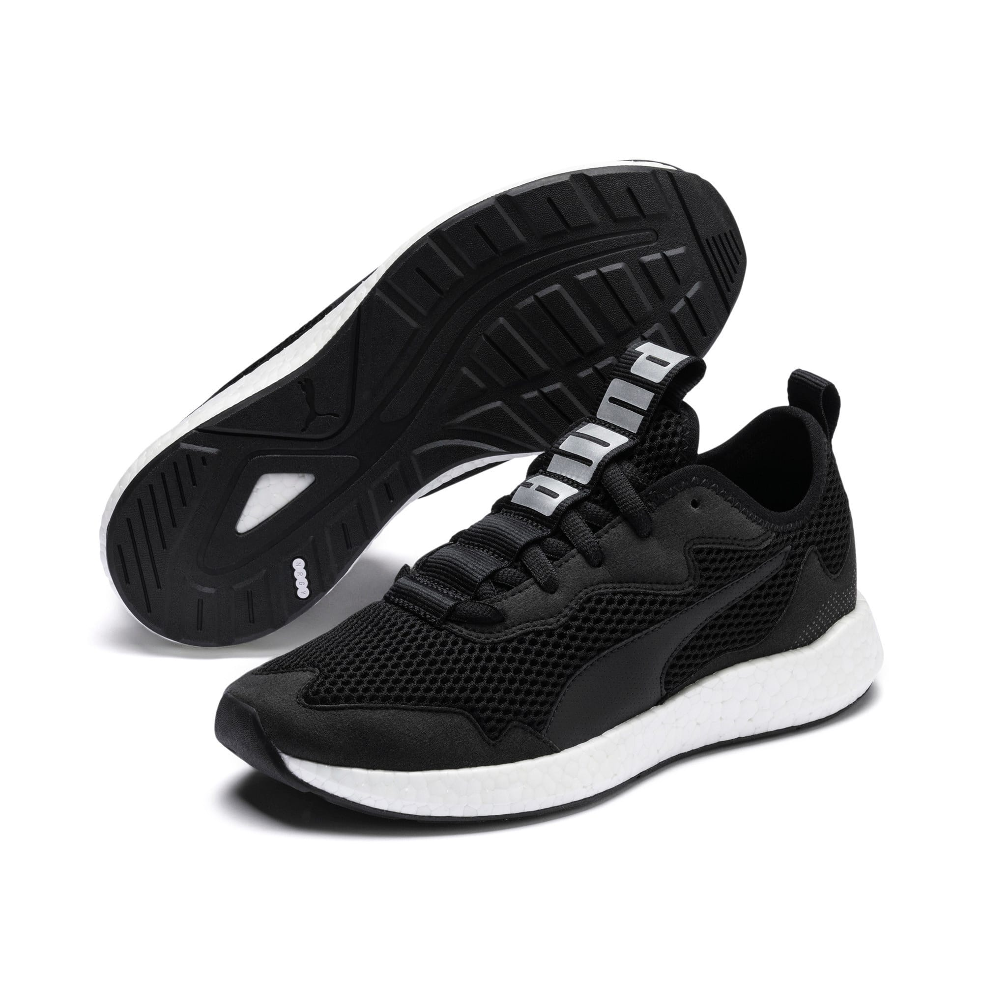 Thumbnail 8 of NRGY Neko Skim Women's Running Shoes, Puma Black-Puma Silver, medium-IND