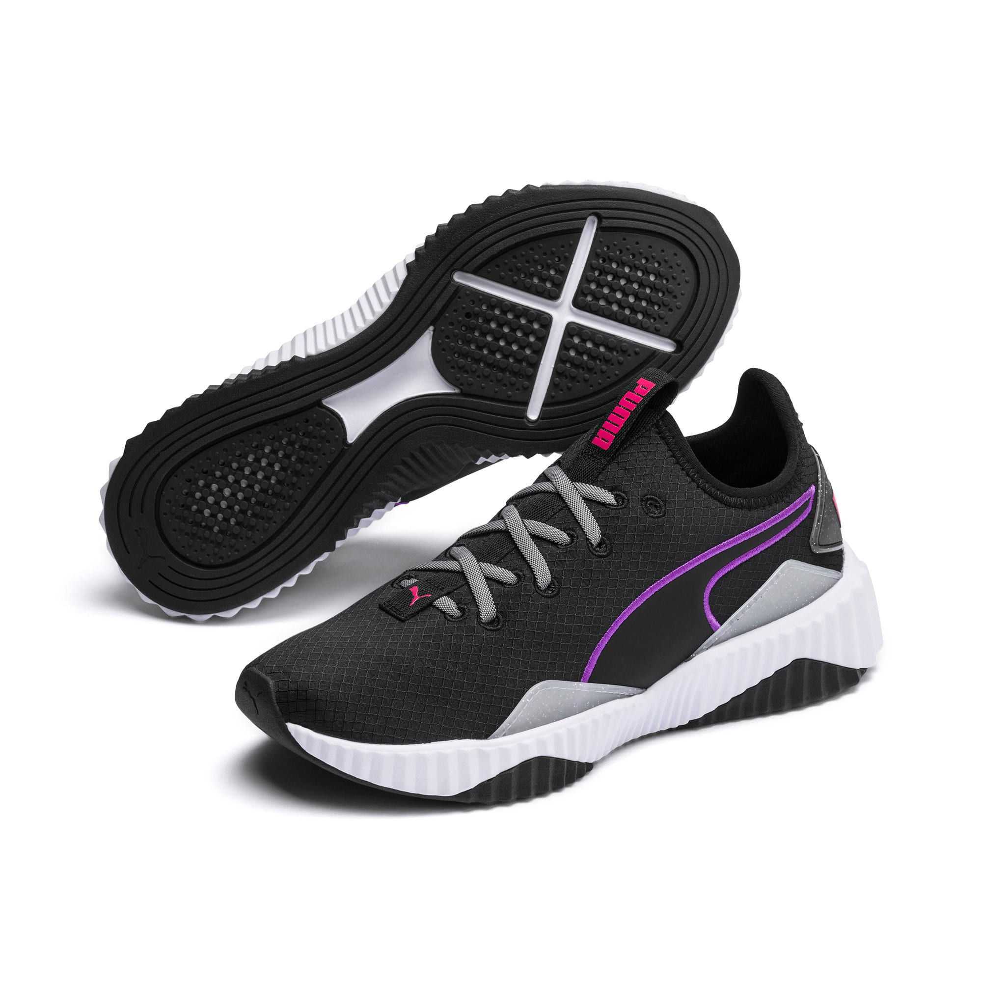 Thumbnail 2 of Defy Sheen Women's Training Shoes, Puma Black-Puma White, medium