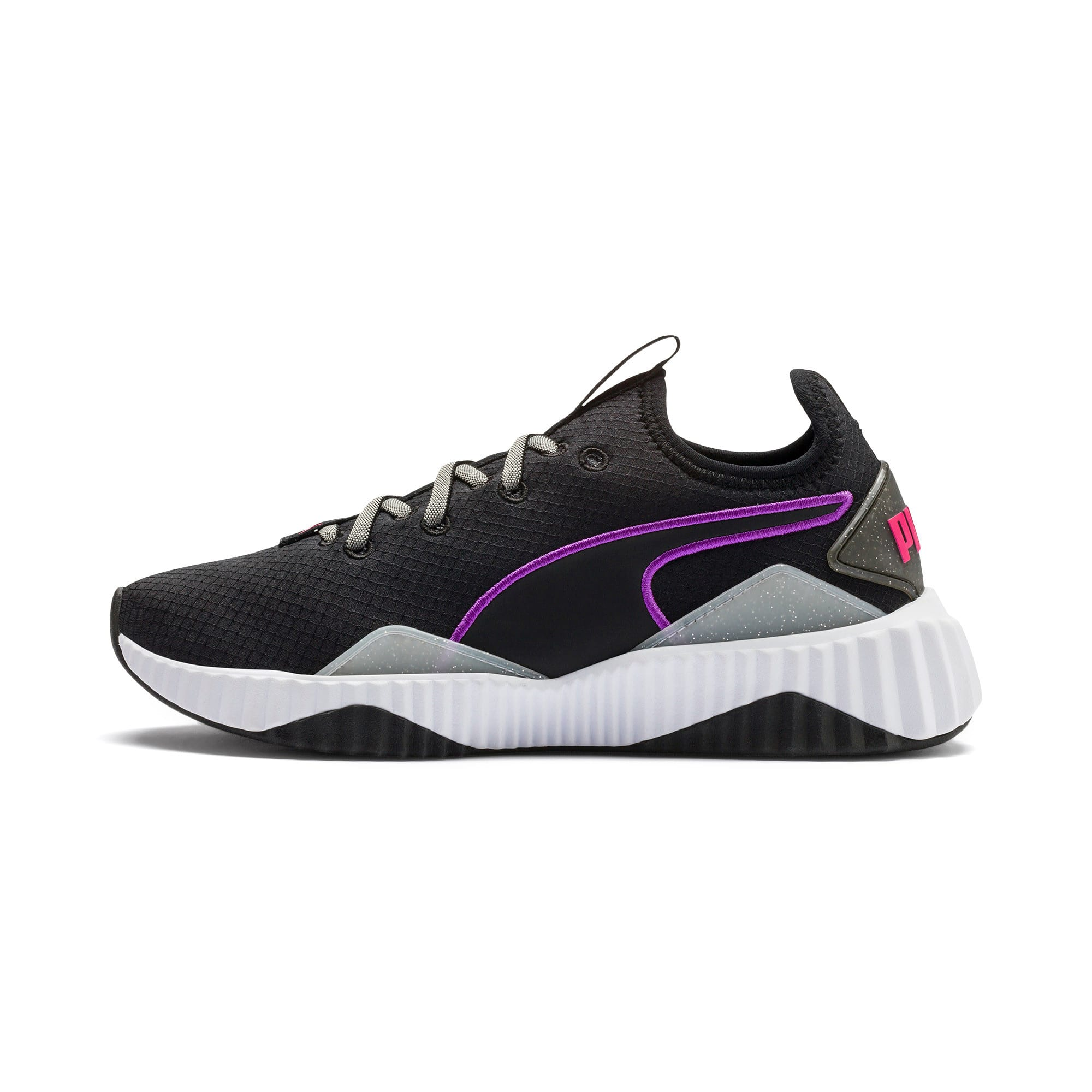Thumbnail 1 of Defy Sheen Women's Training Shoes, Puma Black-Puma White, medium