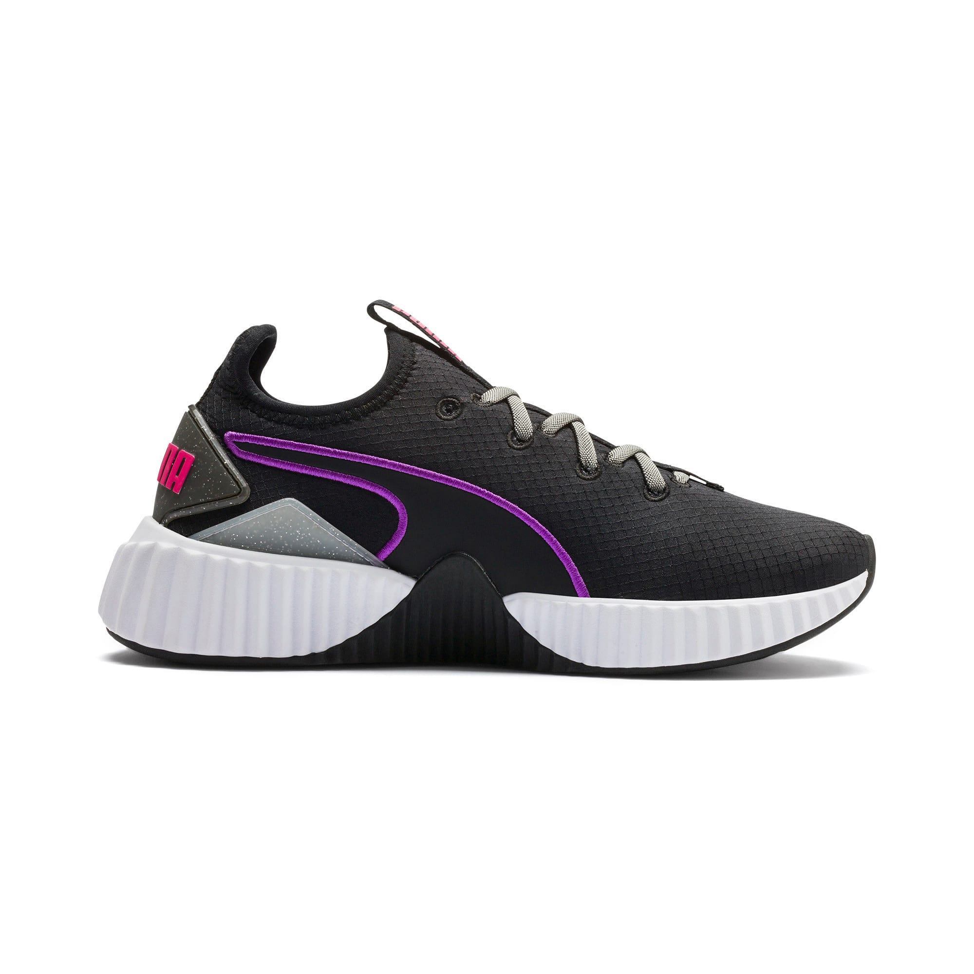 Thumbnail 6 of Defy Sheen Women's Training Shoes, Puma Black-Puma White, medium