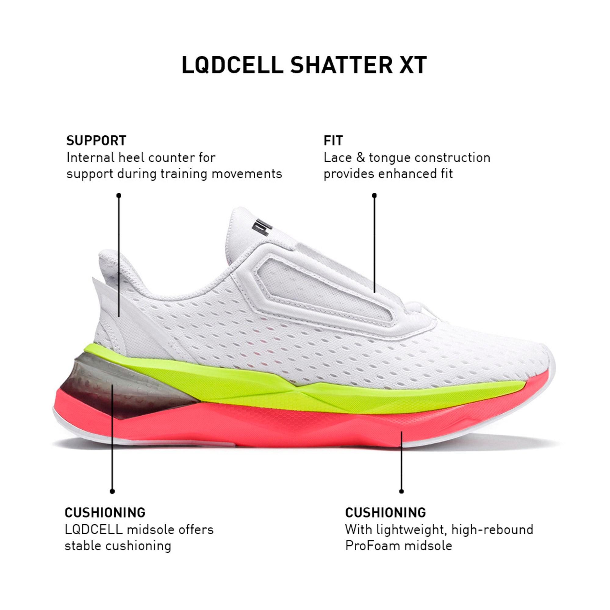 Thumbnail 12 of LQDCell Shatter XT Women's Training Shoes, Puma White-Pink Alert, medium-IND