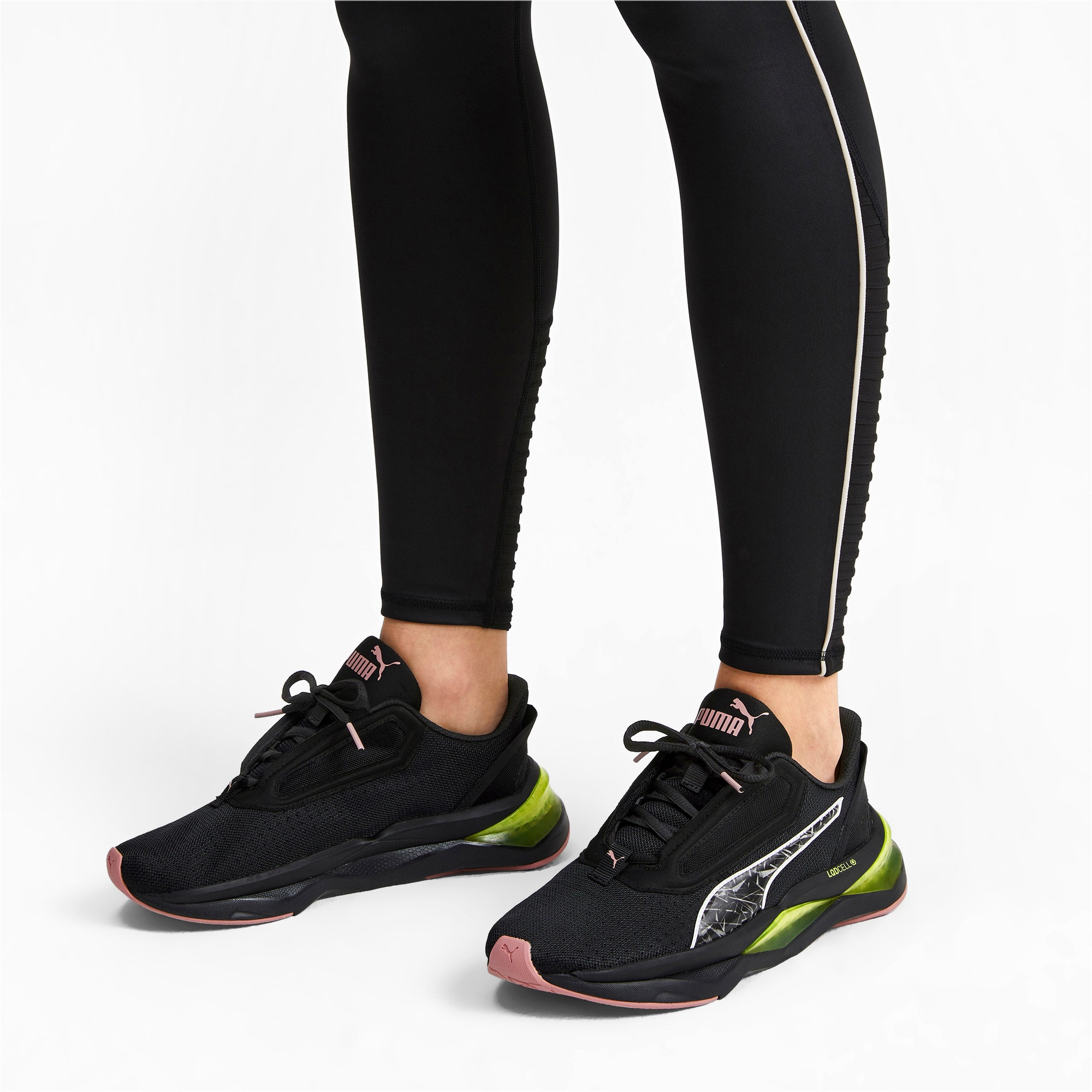 Thumbnail 3 of LQDCELL Shatter XT Women's Training Shoes, Puma Black-Yellow Alert, medium-IND