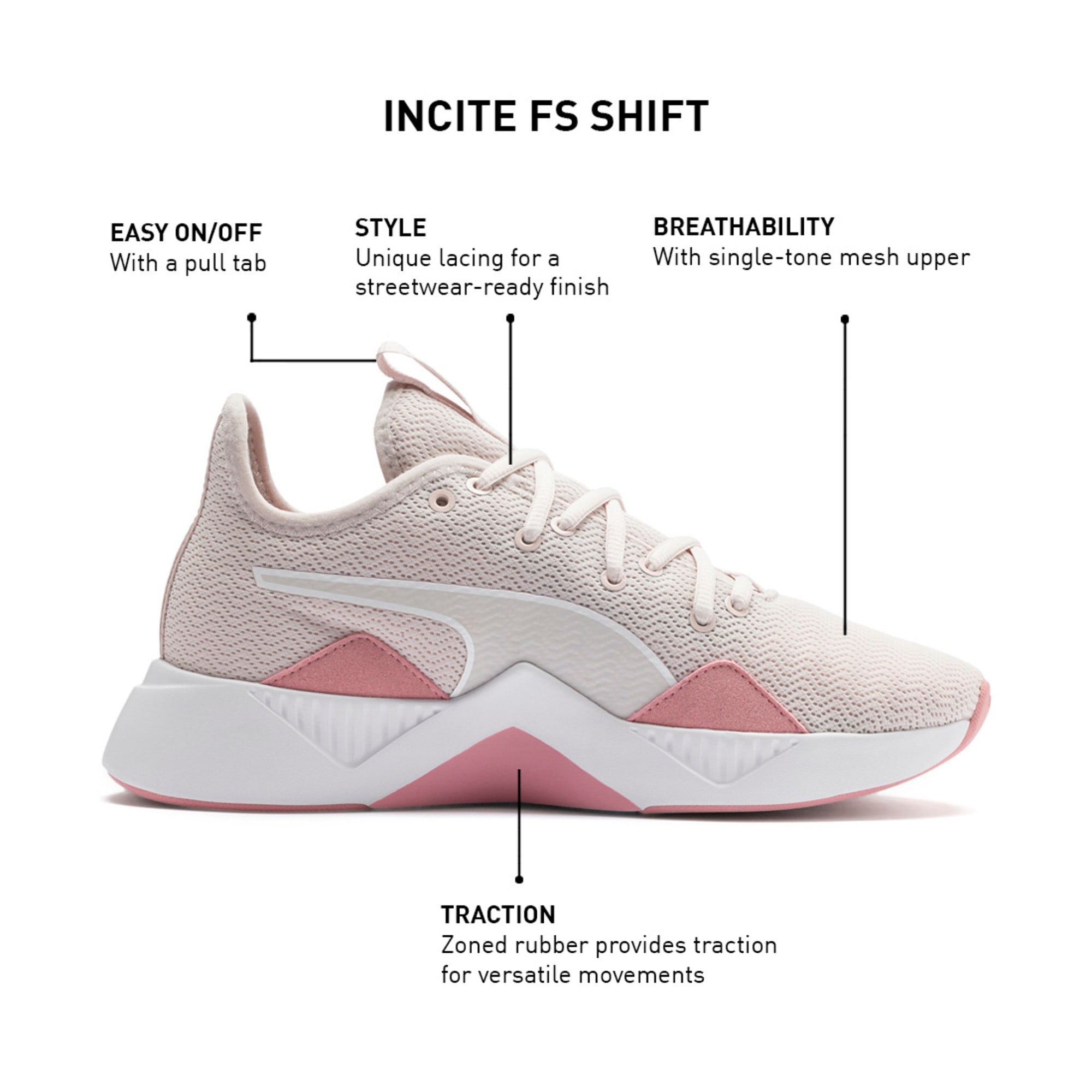 Thumbnail 9 of Incite FS Shift Women's Trainers, Pastel Parchment-Rose-White, medium-IND