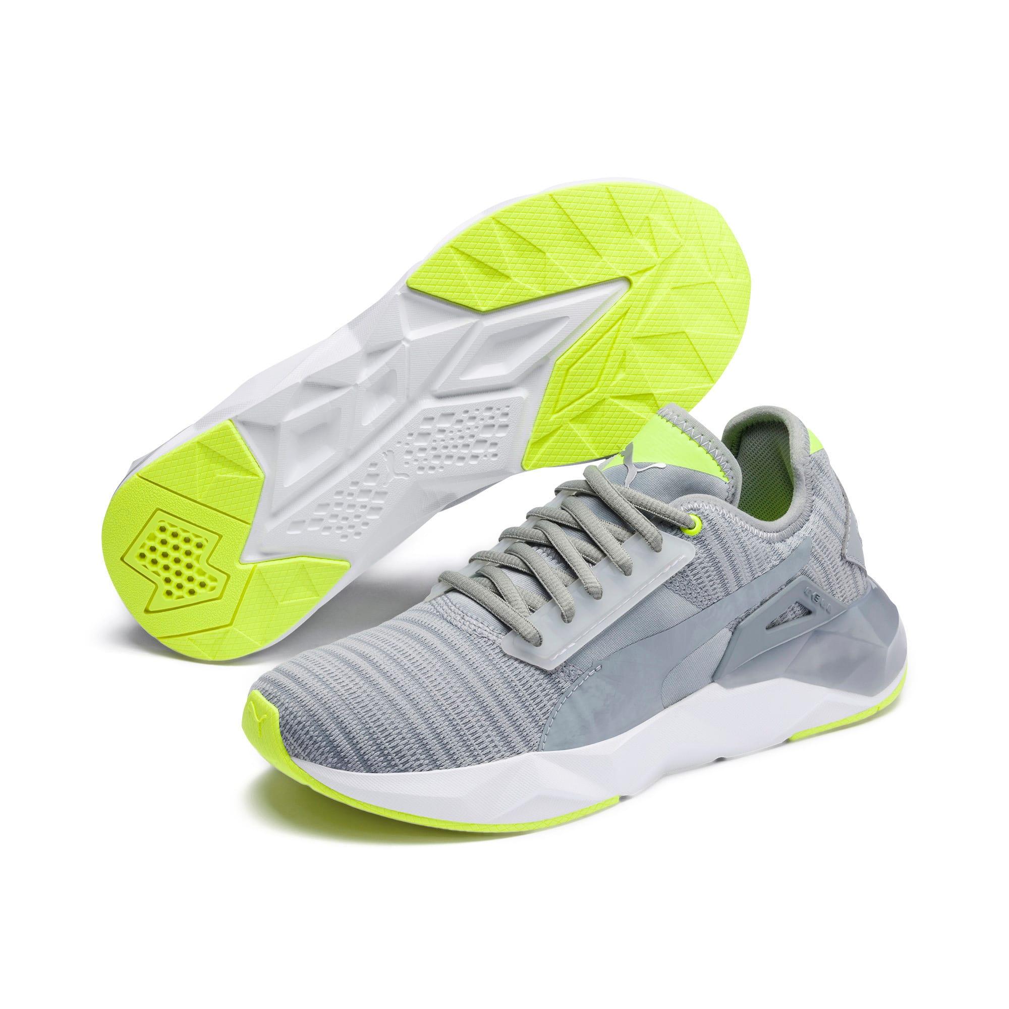Thumbnail 3 of CELL Plasmic Damen Sneaker, Quarry-Puma White, medium