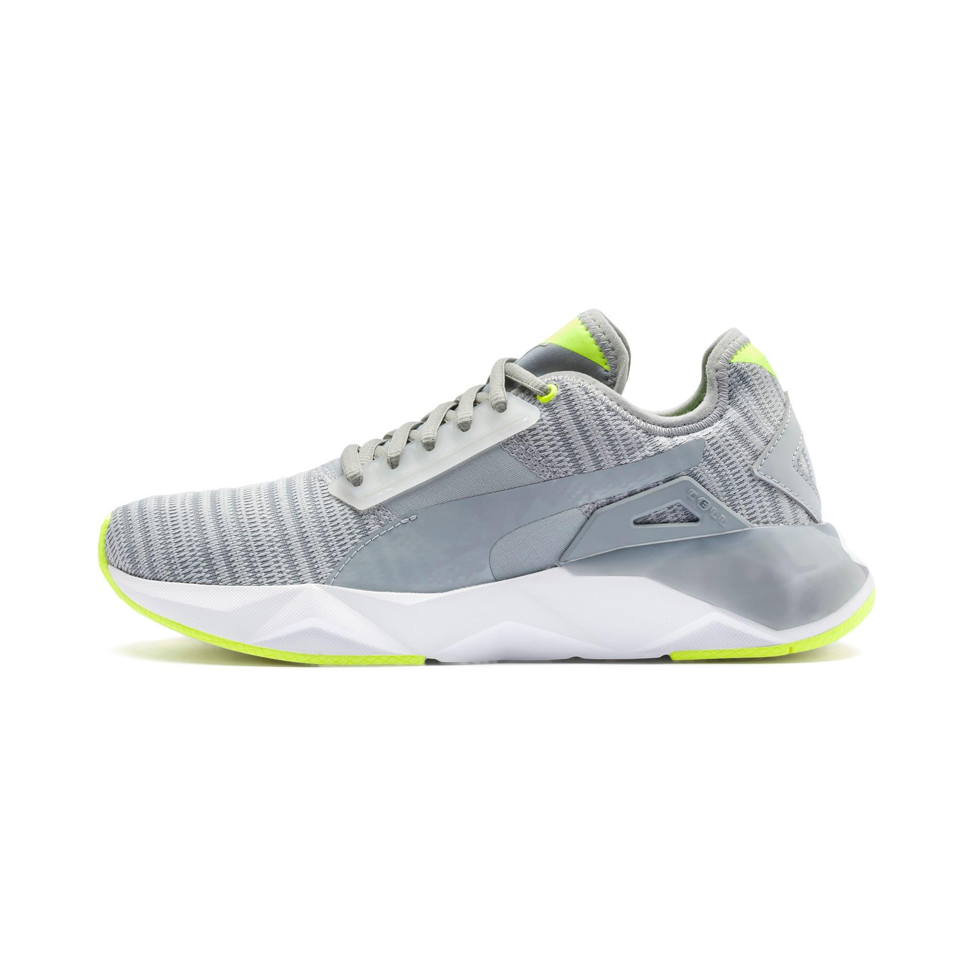 Thumbnail 1 of CELL Plasmic Damen Sneaker, Quarry-Puma White, medium