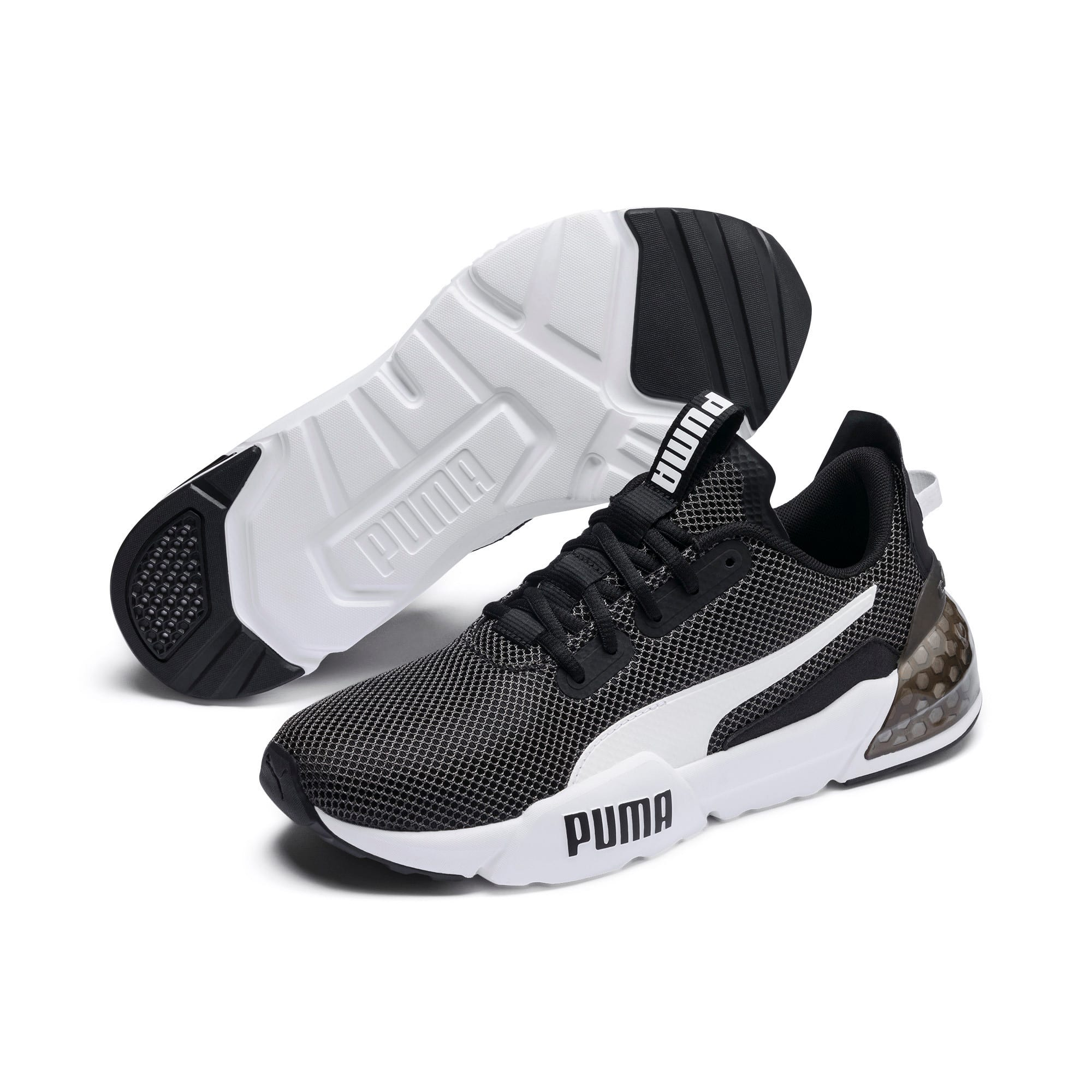 Thumbnail 3 of CELL Phase Herren Running Sneaker, Puma Black-Puma White, medium