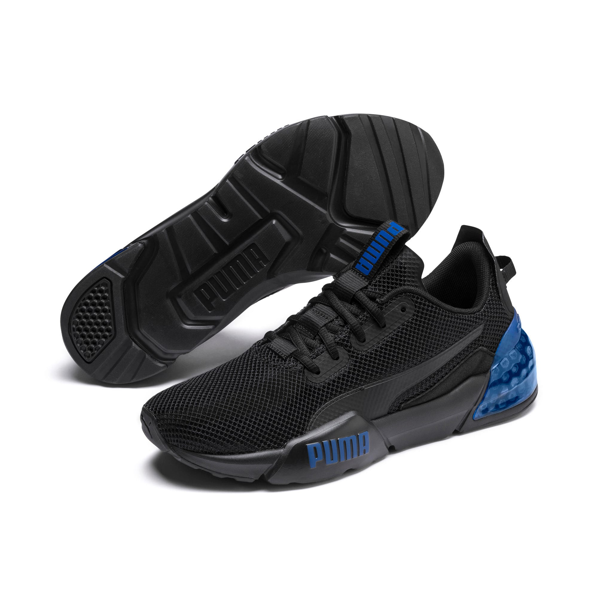 Thumbnail 3 of CELL Phase Men's Running Trainers, Puma Black-Galaxy Blue, medium