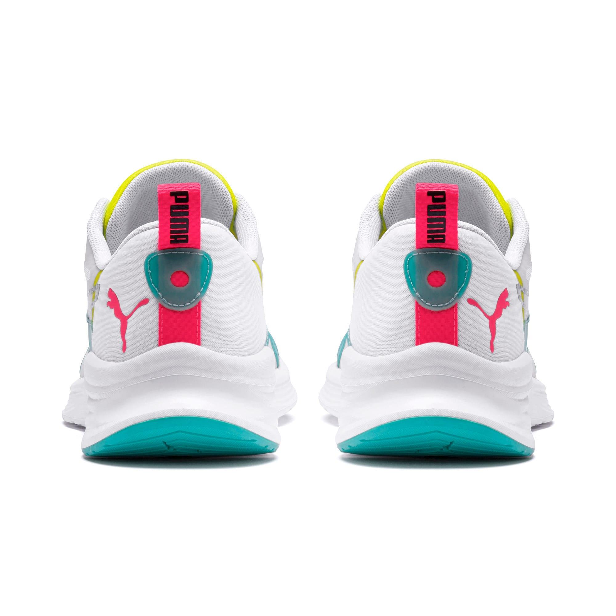 Thumbnail 3 of HYBRID Fuego Men's Running Shoes, White-Nrgy Rose-Yellow Alert, medium