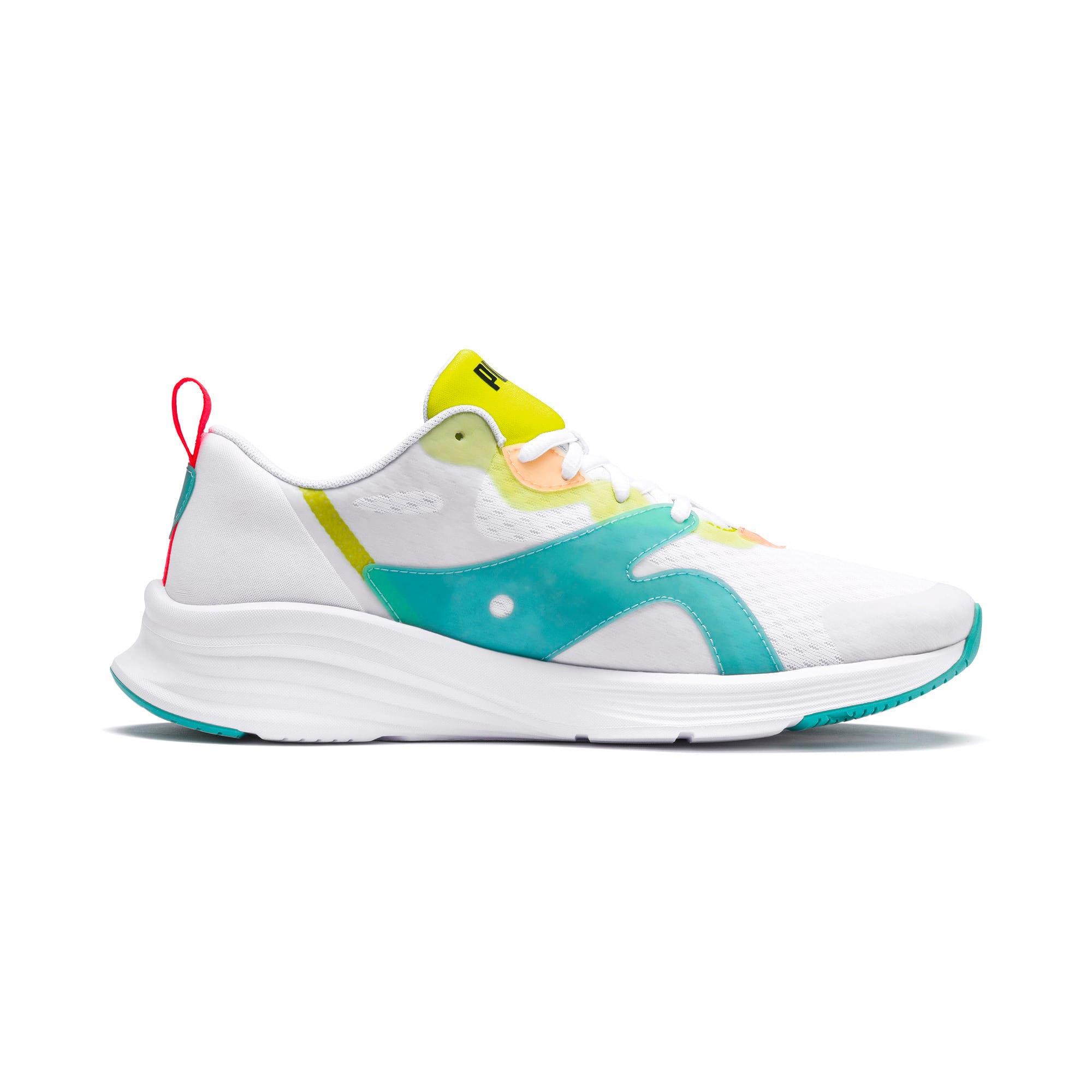 Thumbnail 5 of HYBRID Fuego Men's Running Shoes, White-Nrgy Rose-Yellow Alert, medium