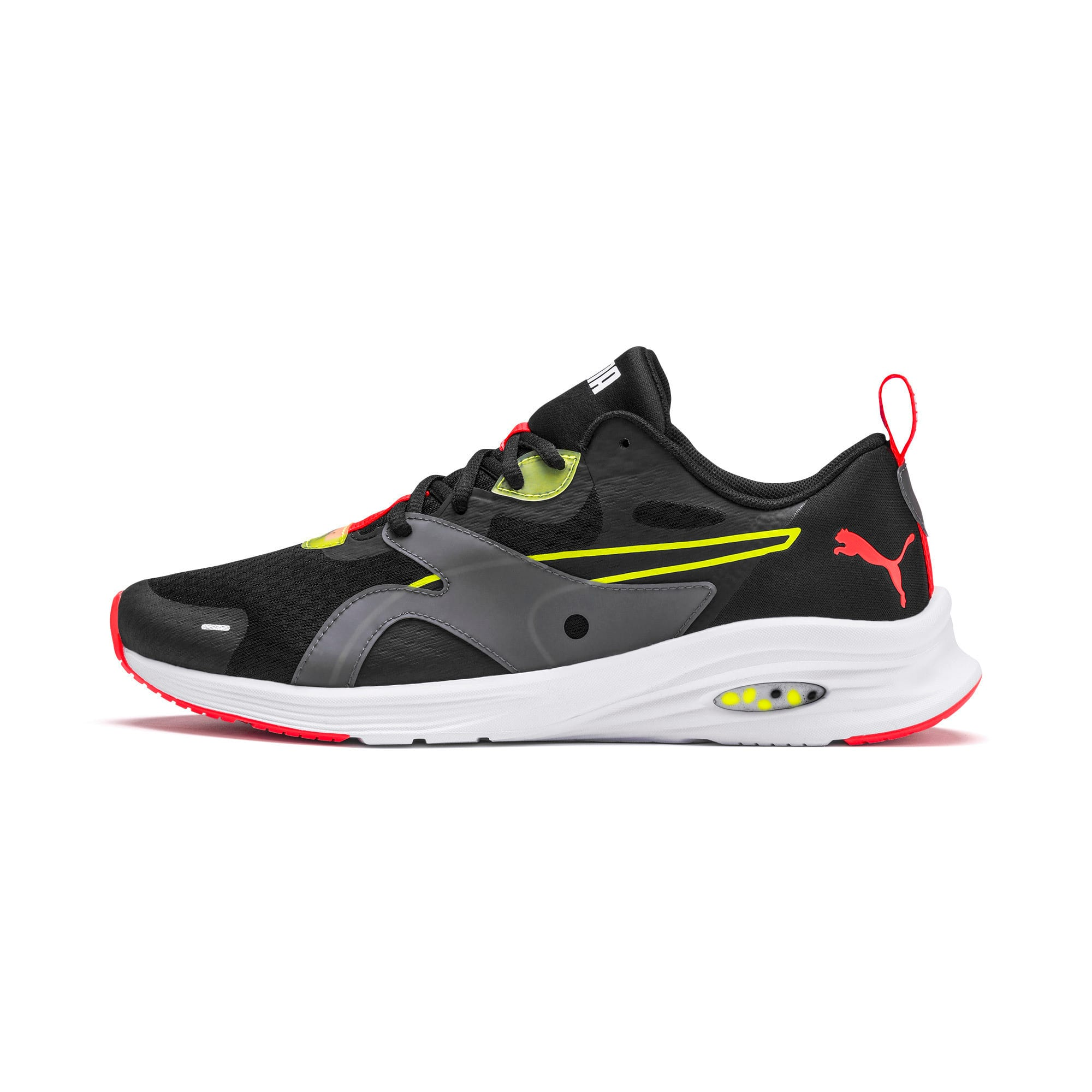 Thumbnail 1 of HYBRID Fuego Men's Running Shoes, Puma Black-Yellow Alert, medium