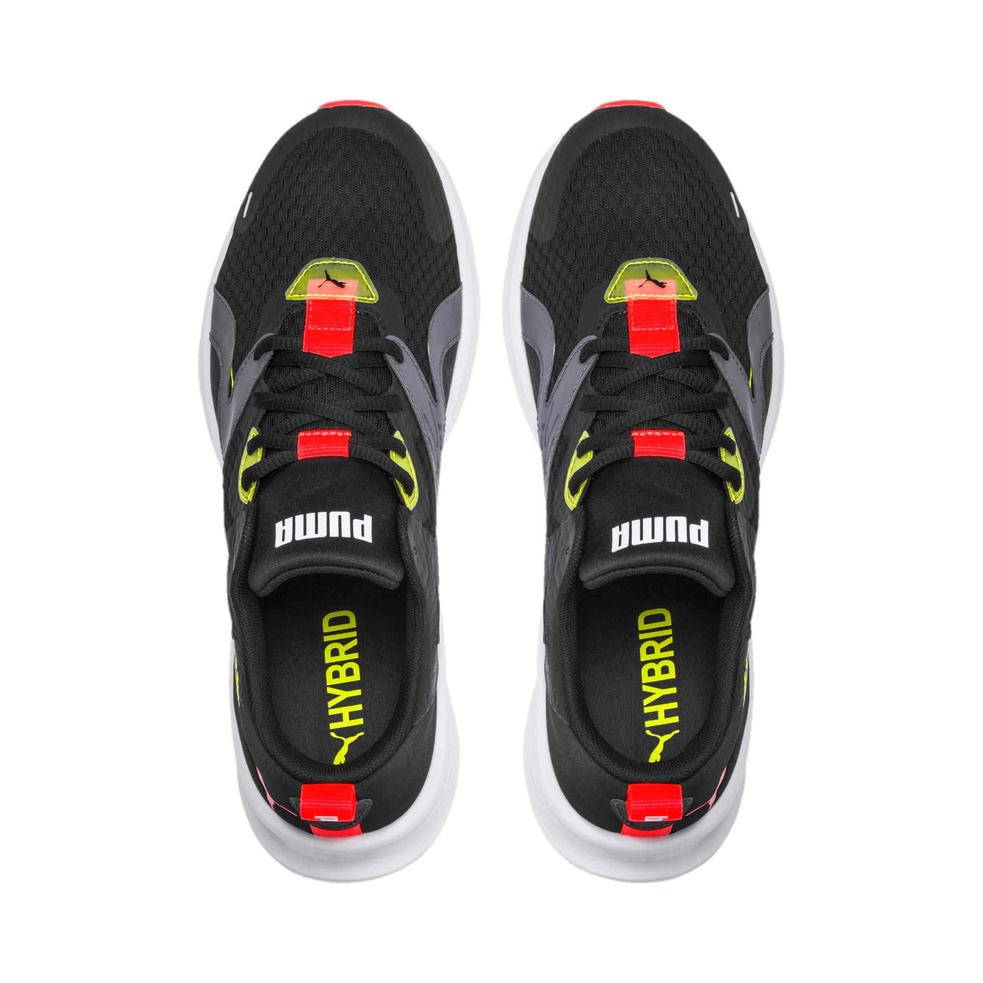 Thumbnail 6 of HYBRID Fuego Men's Running Shoes, Puma Black-Yellow Alert, medium