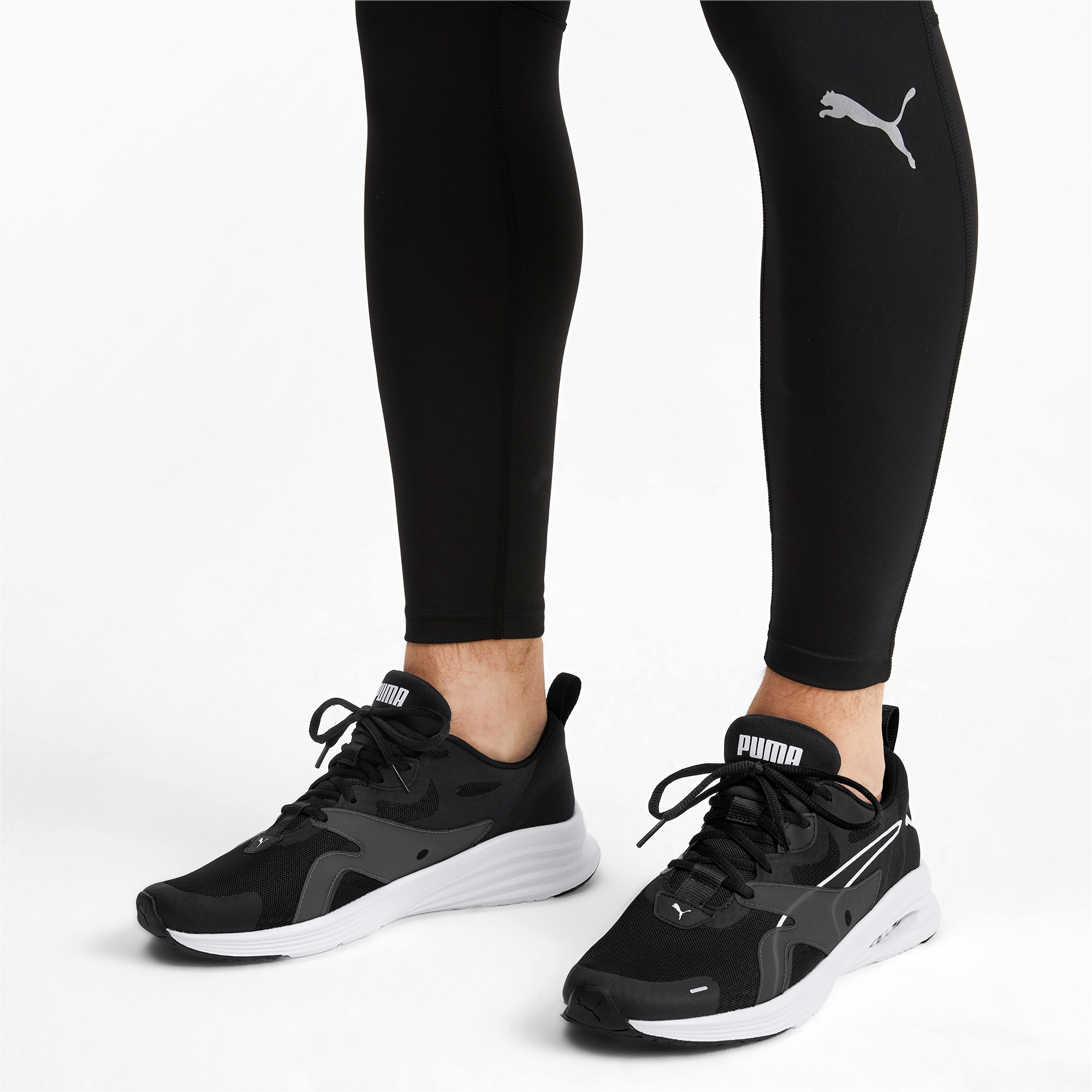 Thumbnail 2 of HYBRID Fuego Men's Running Shoes, Puma Black-Puma White, medium