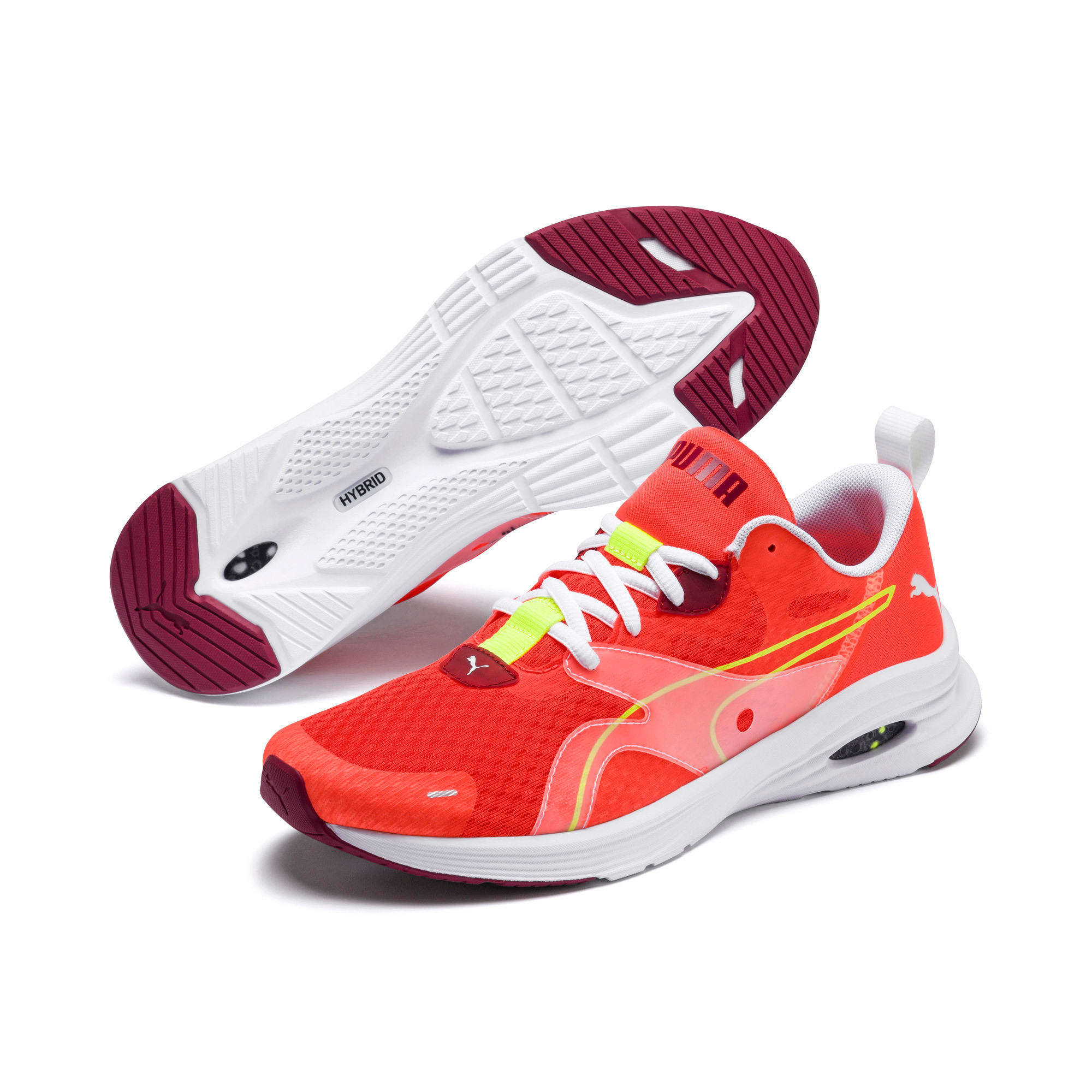 Thumbnail 2 of HYBRID Fuego Men's Running Shoes, Nrgy Red-Rhubarb, medium