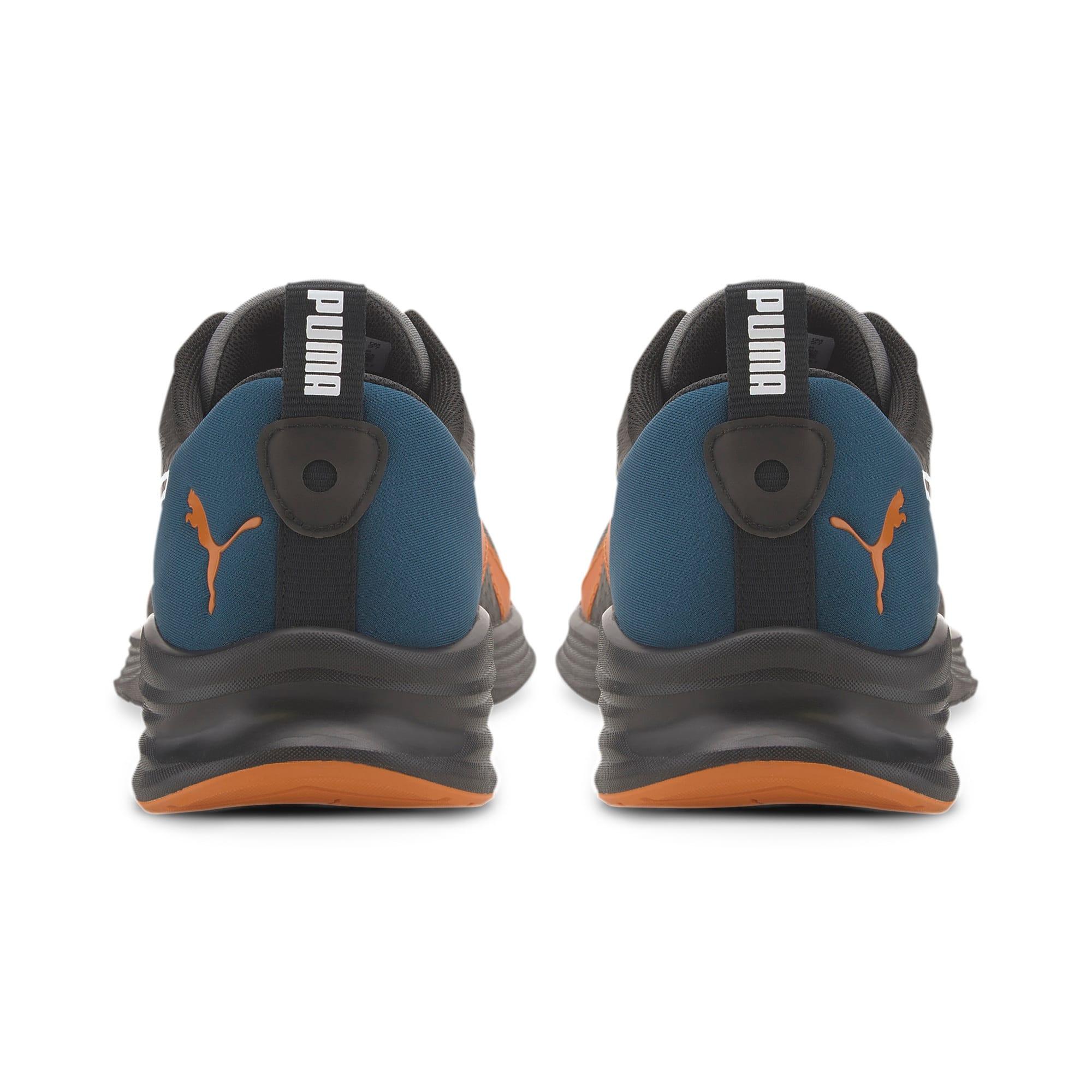 Thumbnail 3 of HYBRID Fuego Running Sneaker, Gibraltar Sea-Jaffa Orange, medium