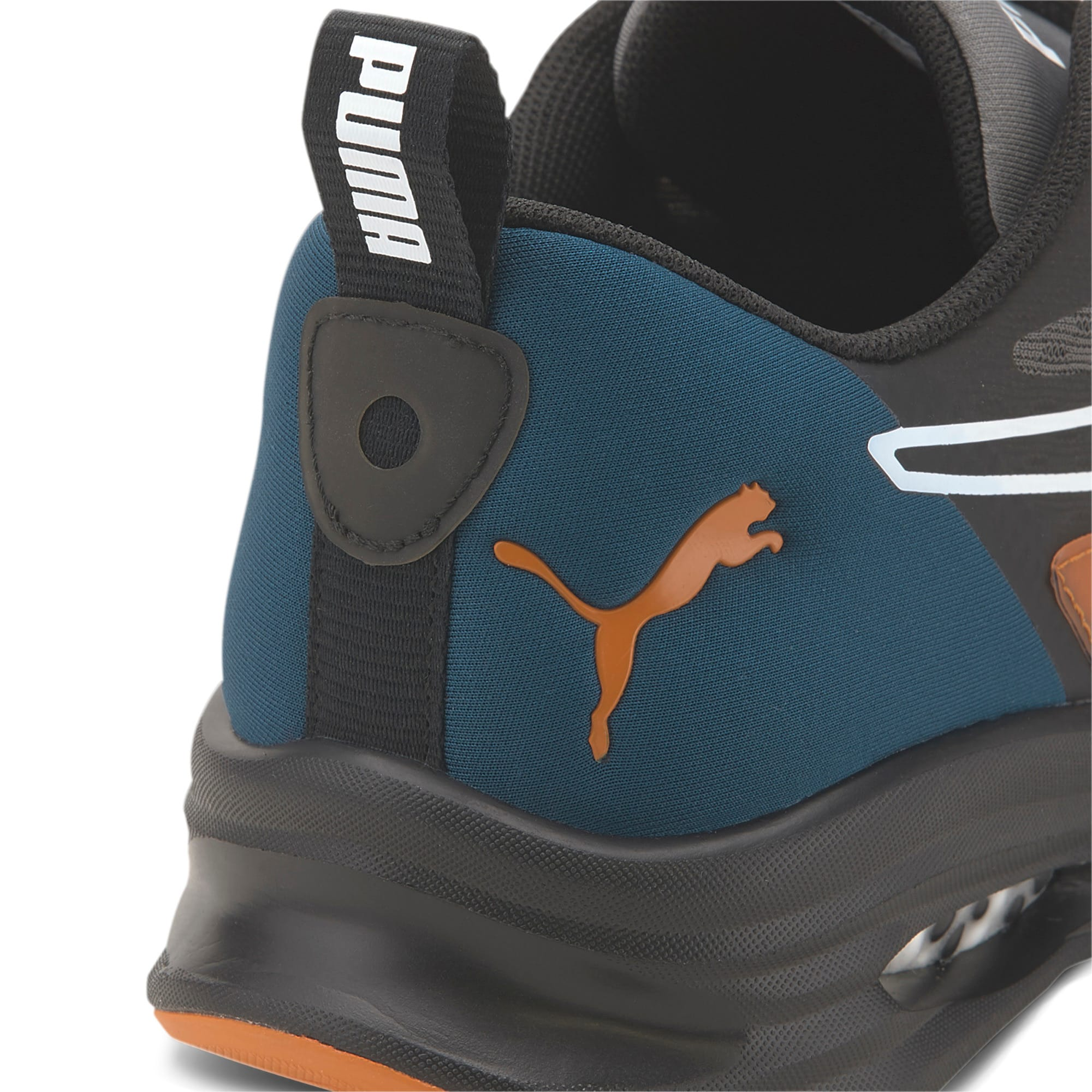 Thumbnail 7 of HYBRID Fuego Running Sneaker, Gibraltar Sea-Jaffa Orange, medium