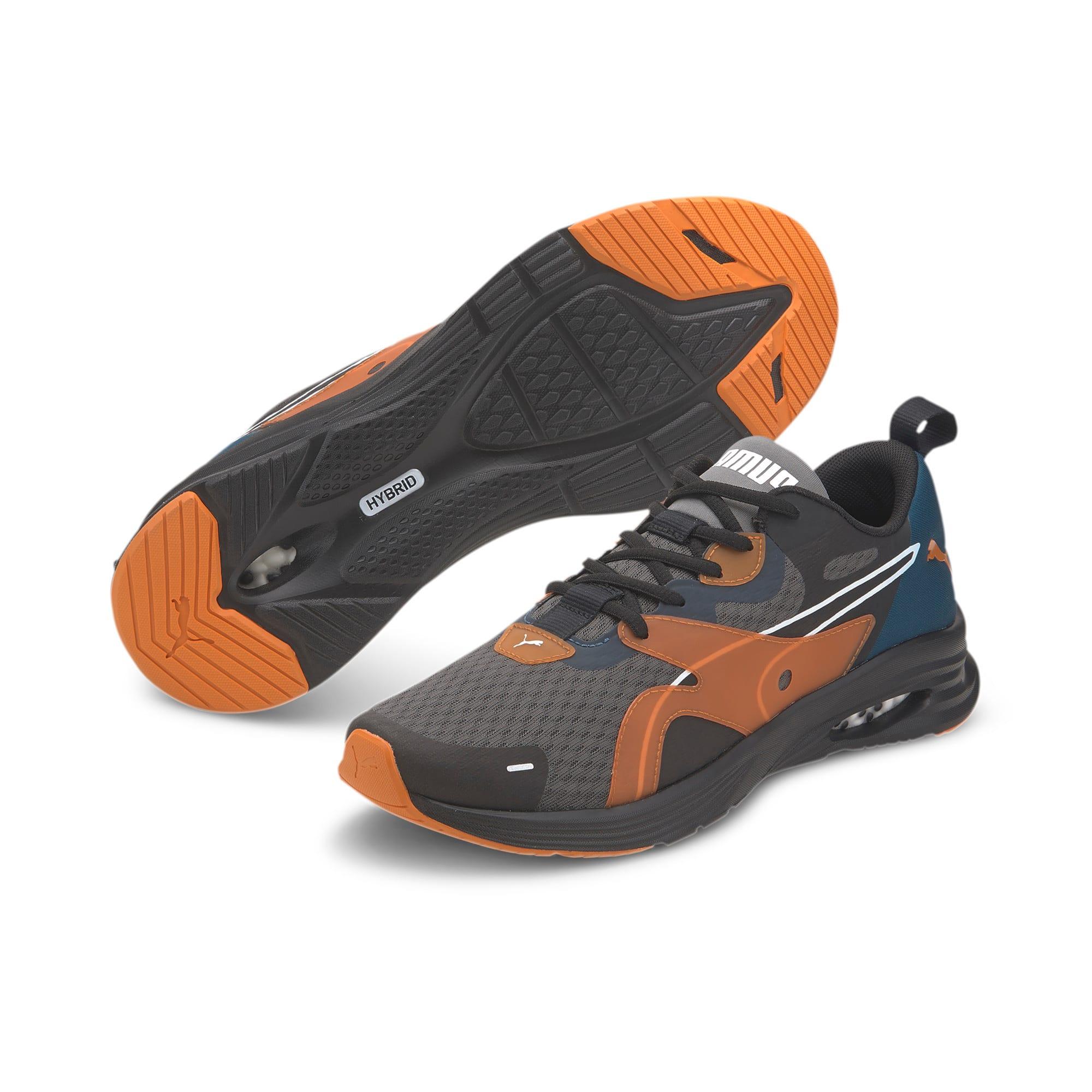 Thumbnail 2 of HYBRID Fuego Running Sneaker, Gibraltar Sea-Jaffa Orange, medium