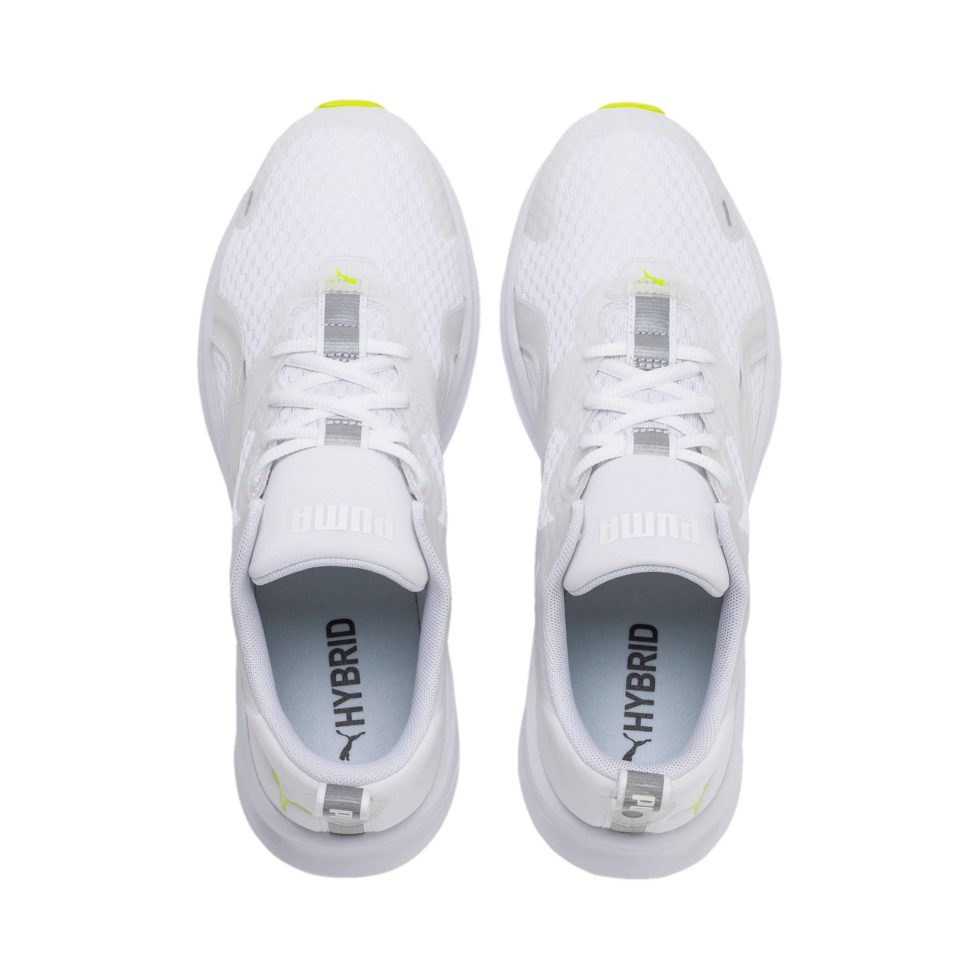 Thumbnail 7 of HYBRID Fuego Lights Men's Running Shoes, Puma White-Yellow Alert, medium