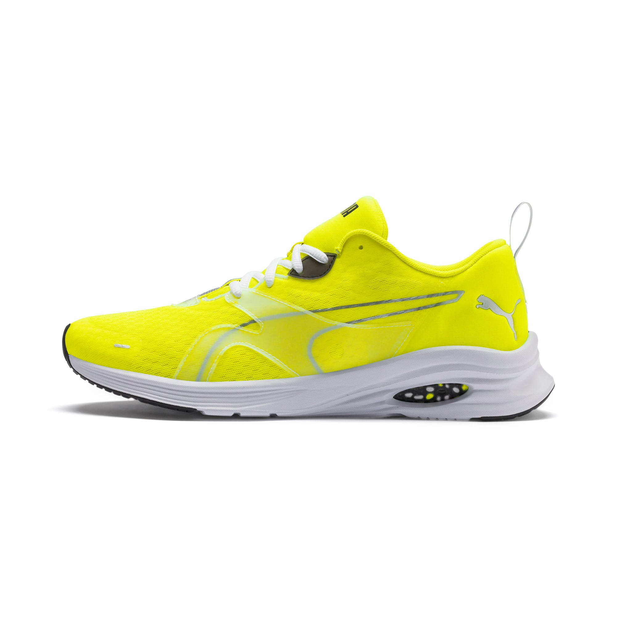 HYBRID Fuego Lights Men's Running Shoes, Yellow Alert, large