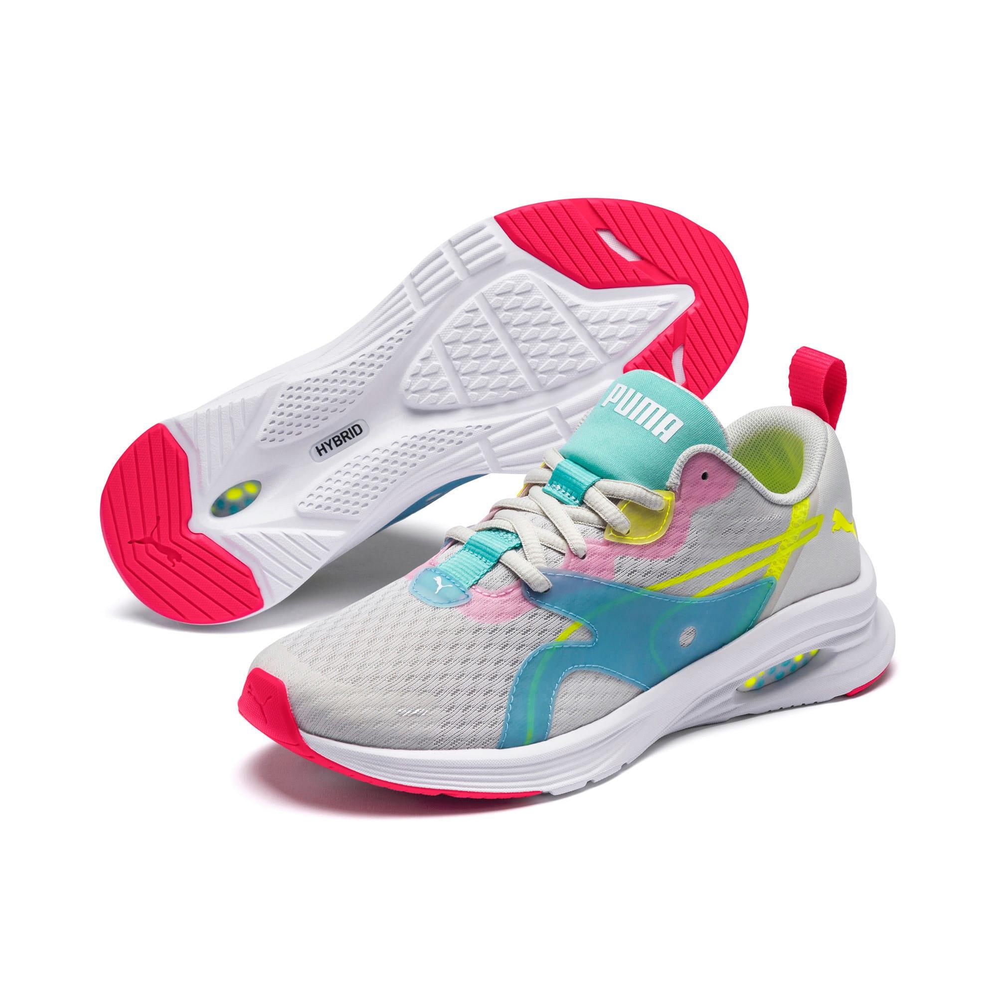 Thumbnail 2 of HYBRID Fuego Women's Running Shoes, Gray-YellowAlert-NrgyRose, medium