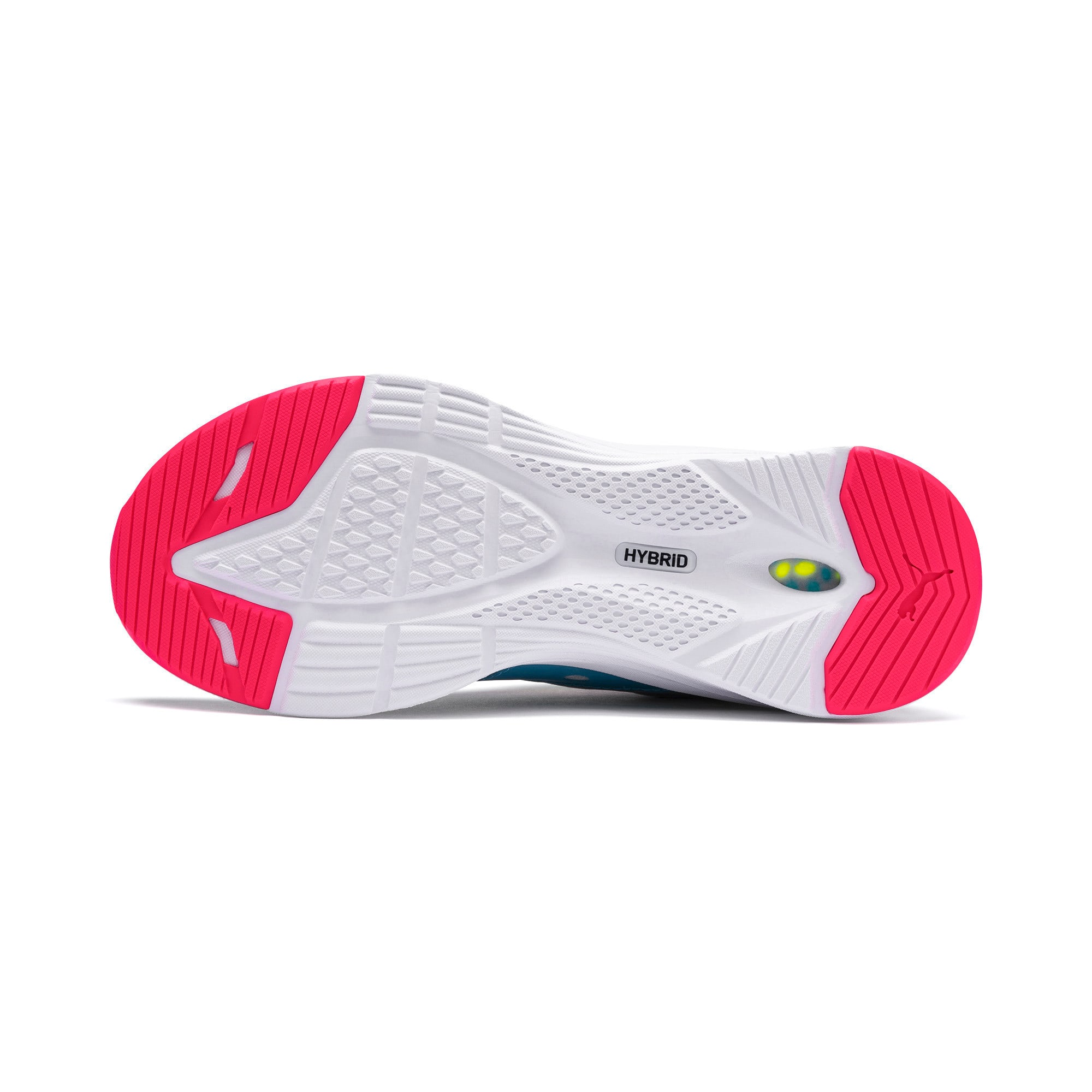 Thumbnail 4 of HYBRID Fuego Women's Running Trainers, Gray-YellowAlert-NrgyRose, medium
