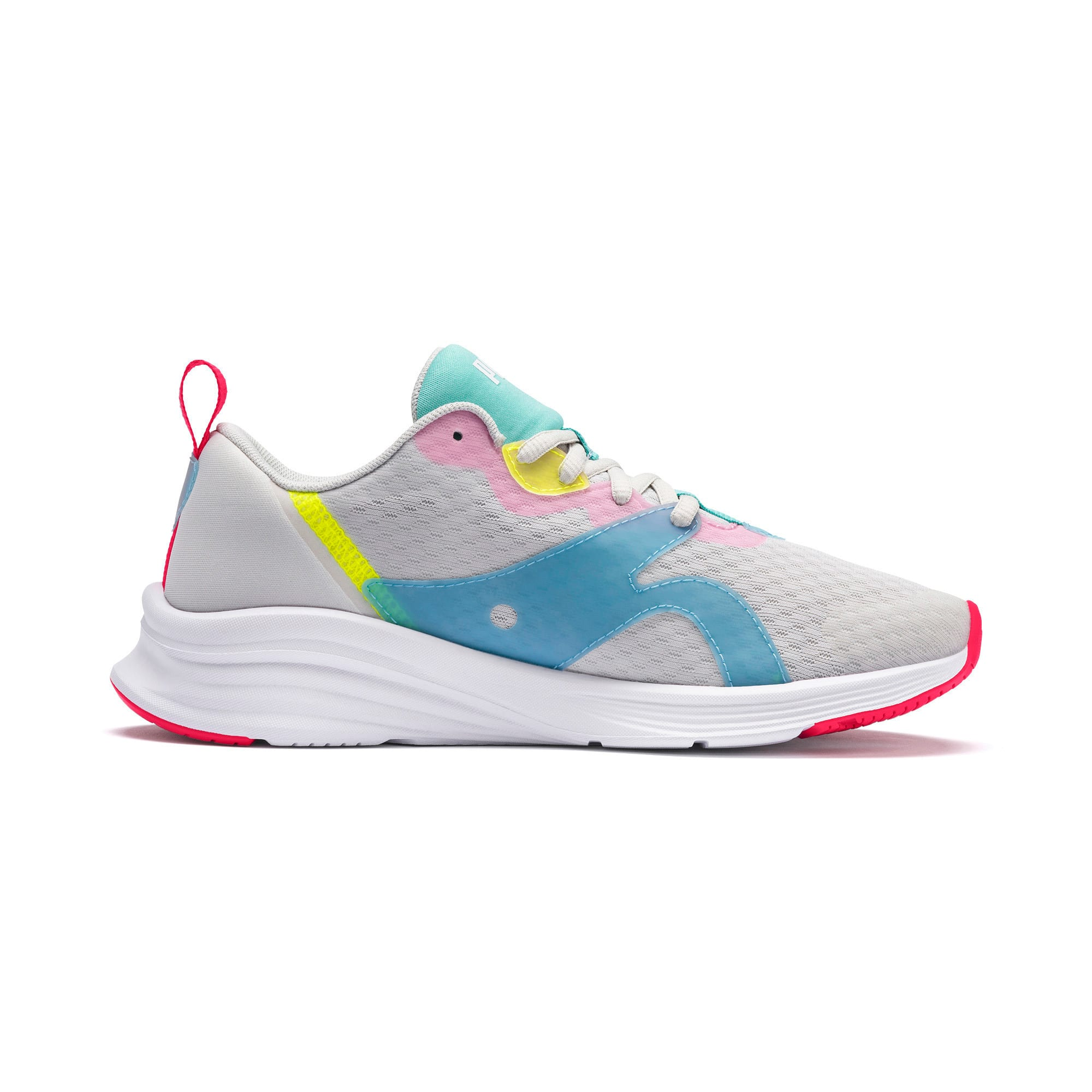 Thumbnail 5 of HYBRID Fuego Women's Running Trainers, Gray-YellowAlert-NrgyRose, medium