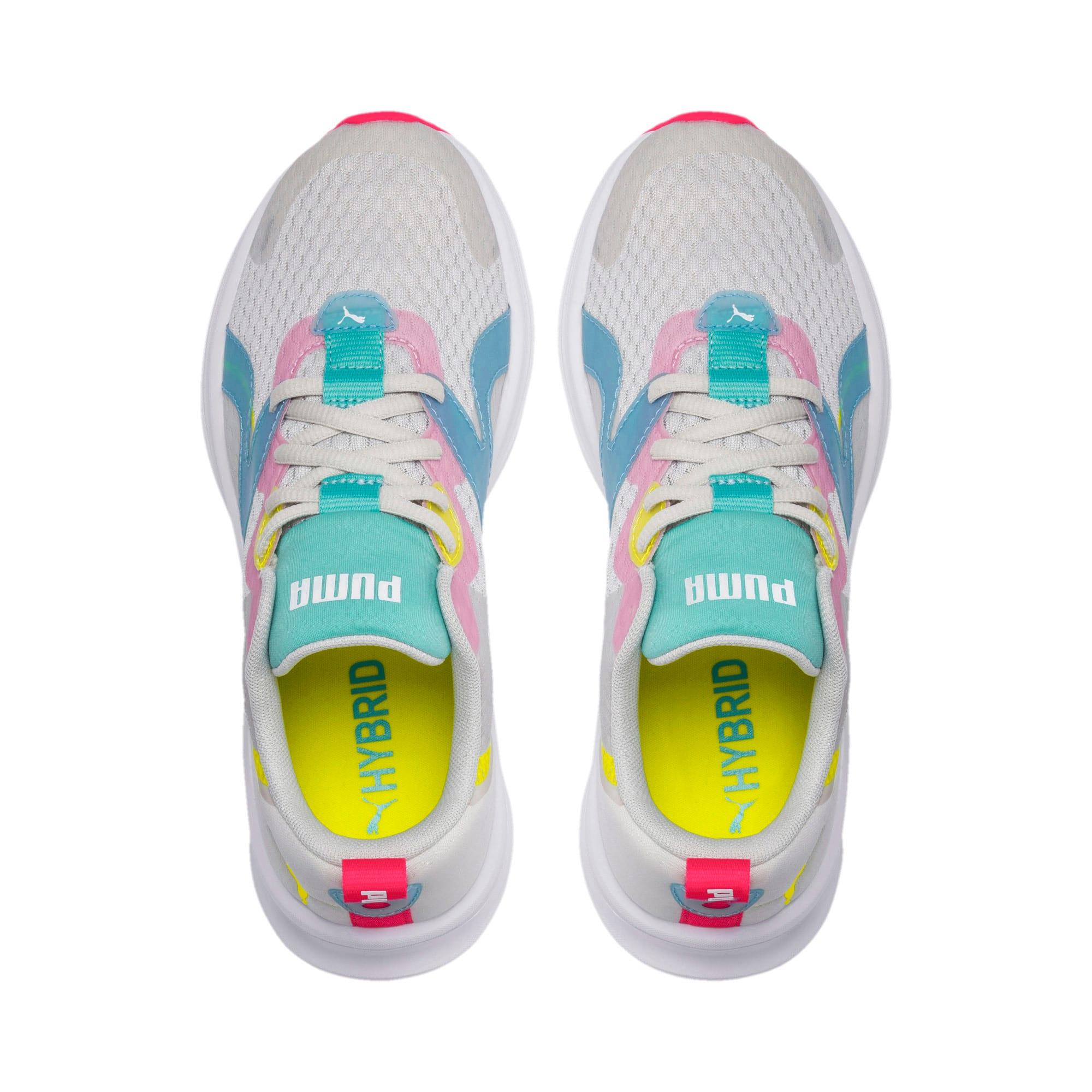 Thumbnail 6 of HYBRID Fuego Women's Running Shoes, Gray-YellowAlert-NrgyRose, medium