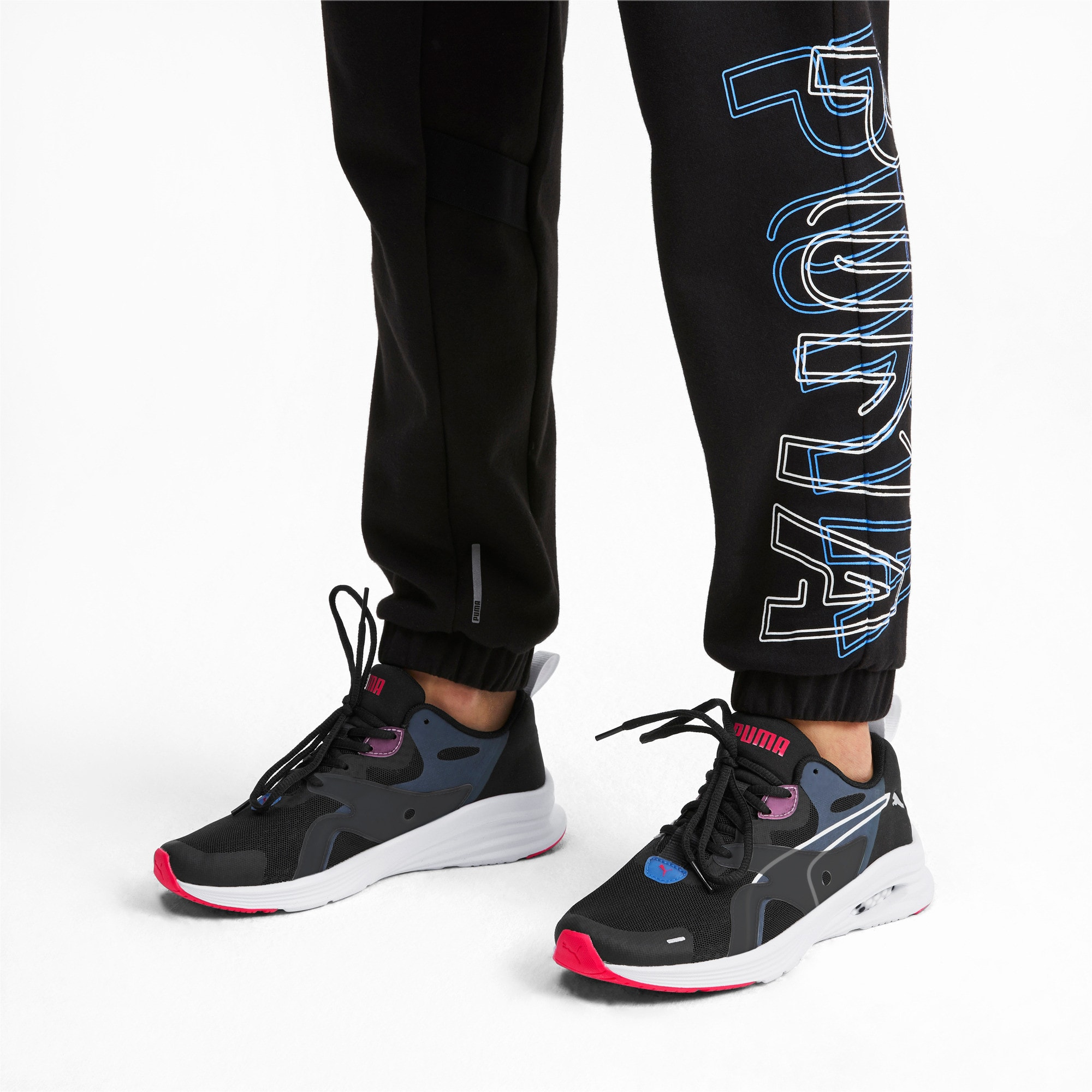 Thumbnail 2 of HYBRID Fuego Women's Running Trainers, Black-Blue Glimmer-Nrgy Rose, medium