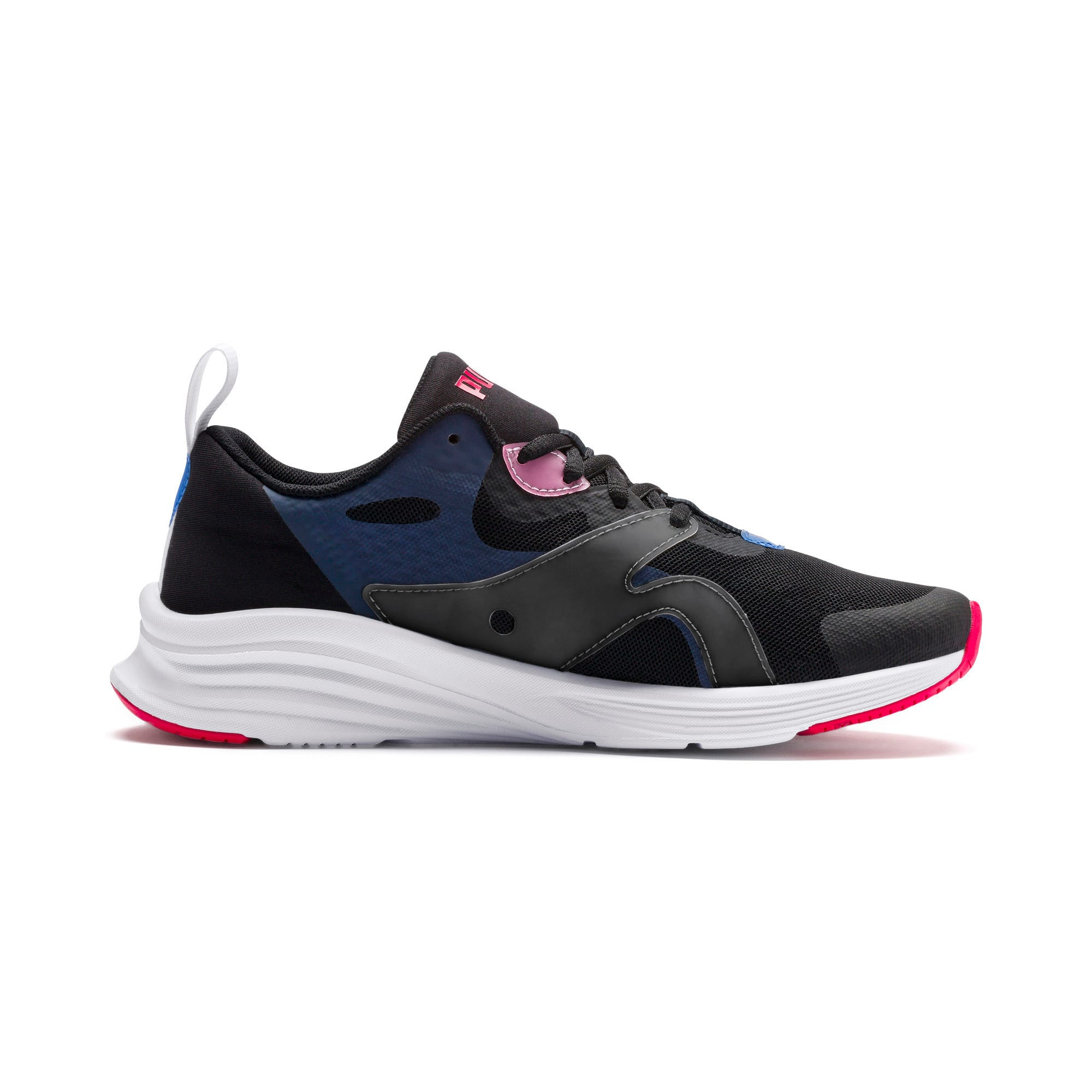 Thumbnail 6 of HYBRID Fuego Women's Running Trainers, Black-Blue Glimmer-Nrgy Rose, medium