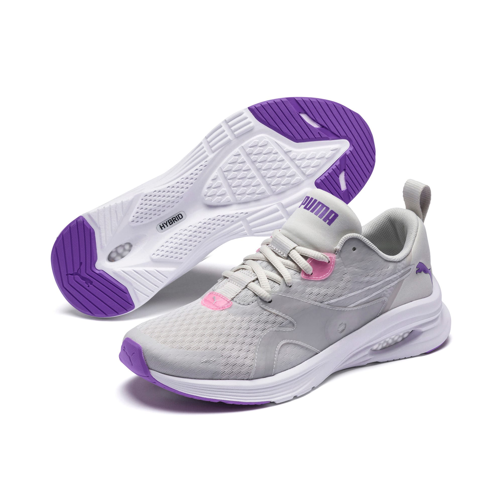 Thumbnail 2 of HYBRID Fuego Women's Running Shoes, Glacier Gray-Purple Glimmer, medium