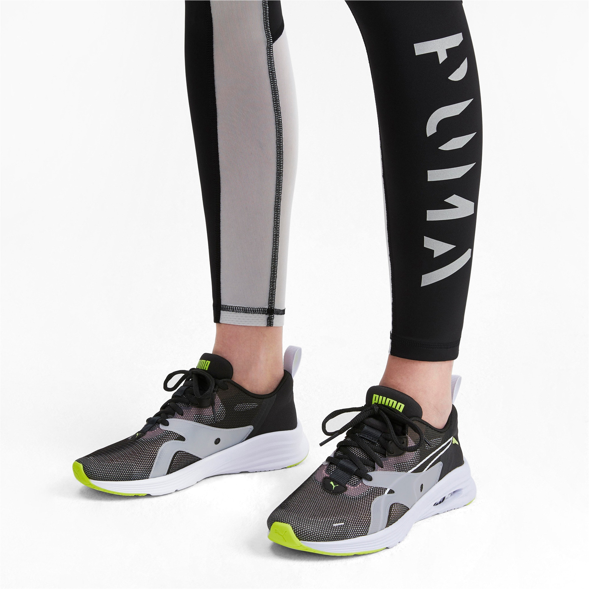 Thumbnail 3 of HYBRID Fuego Shift Women's Running Shoes, Puma Black-Bridal Rose, medium-IND